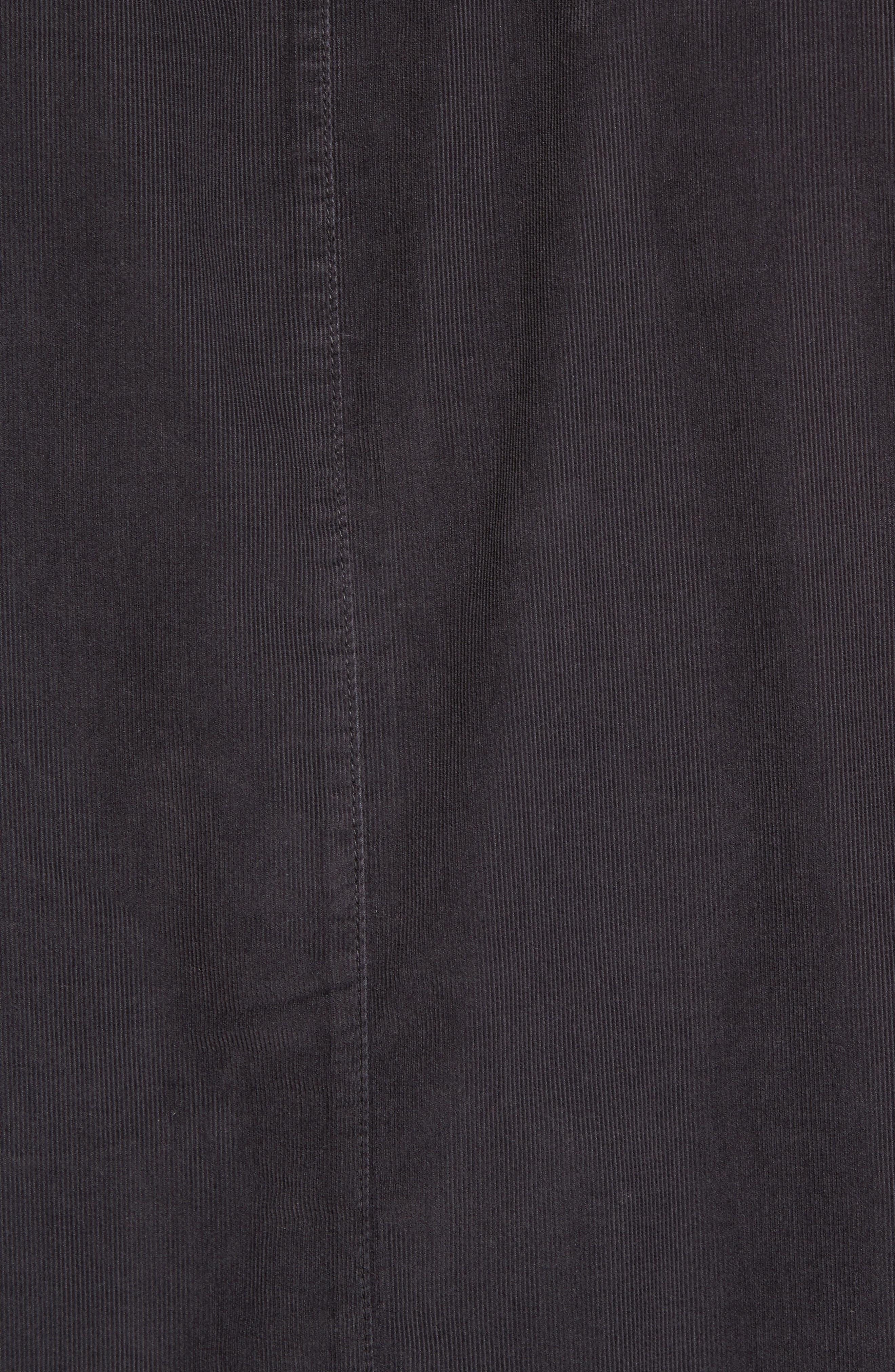 Corduroy Sport Shirt,                             Alternate thumbnail 5, color,                             Carbon Pigment