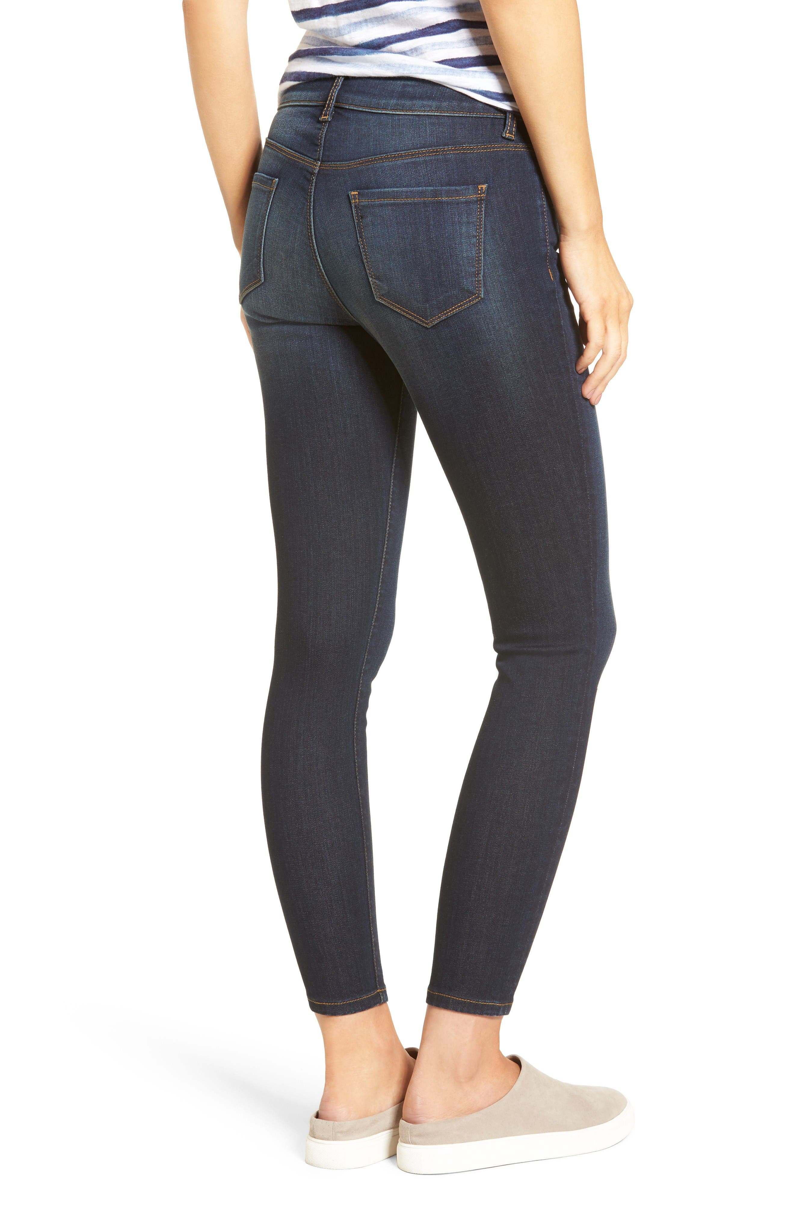 Kurvy Ankle Skinny Jeans,                             Alternate thumbnail 2, color,                             Blinding