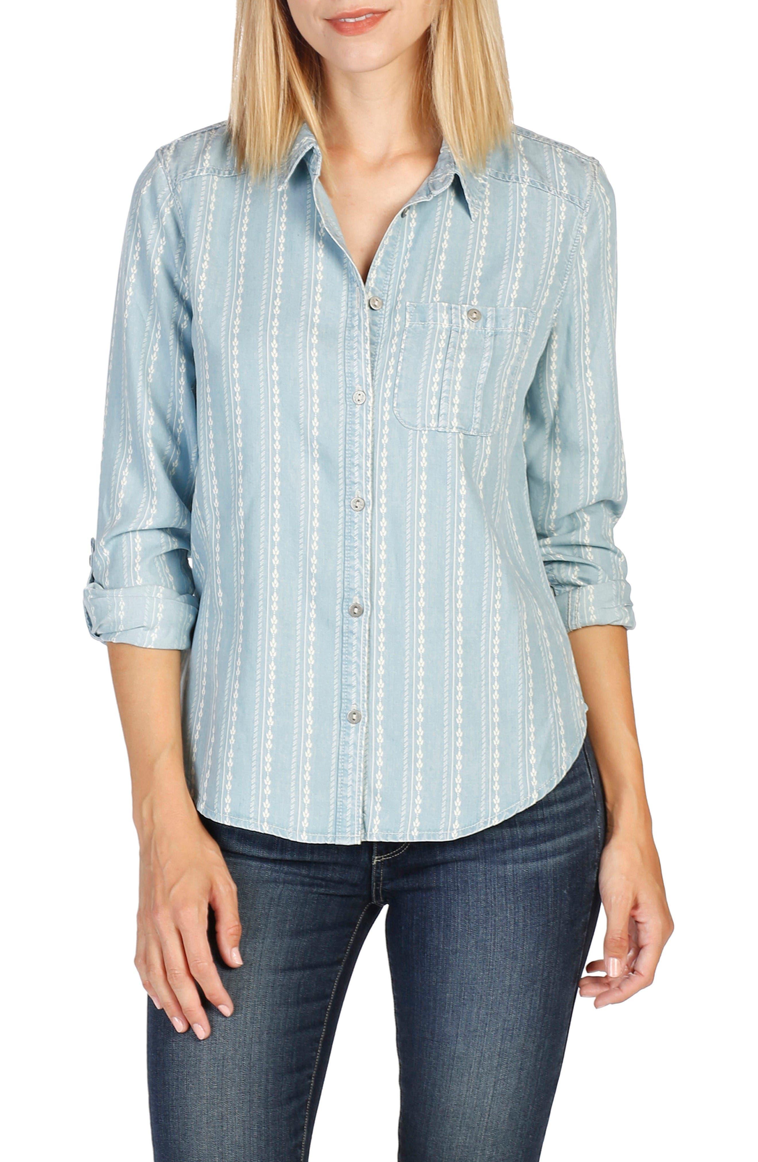 Alternate Image 1 Selected - PAIGE Tenna Chambray Shirt