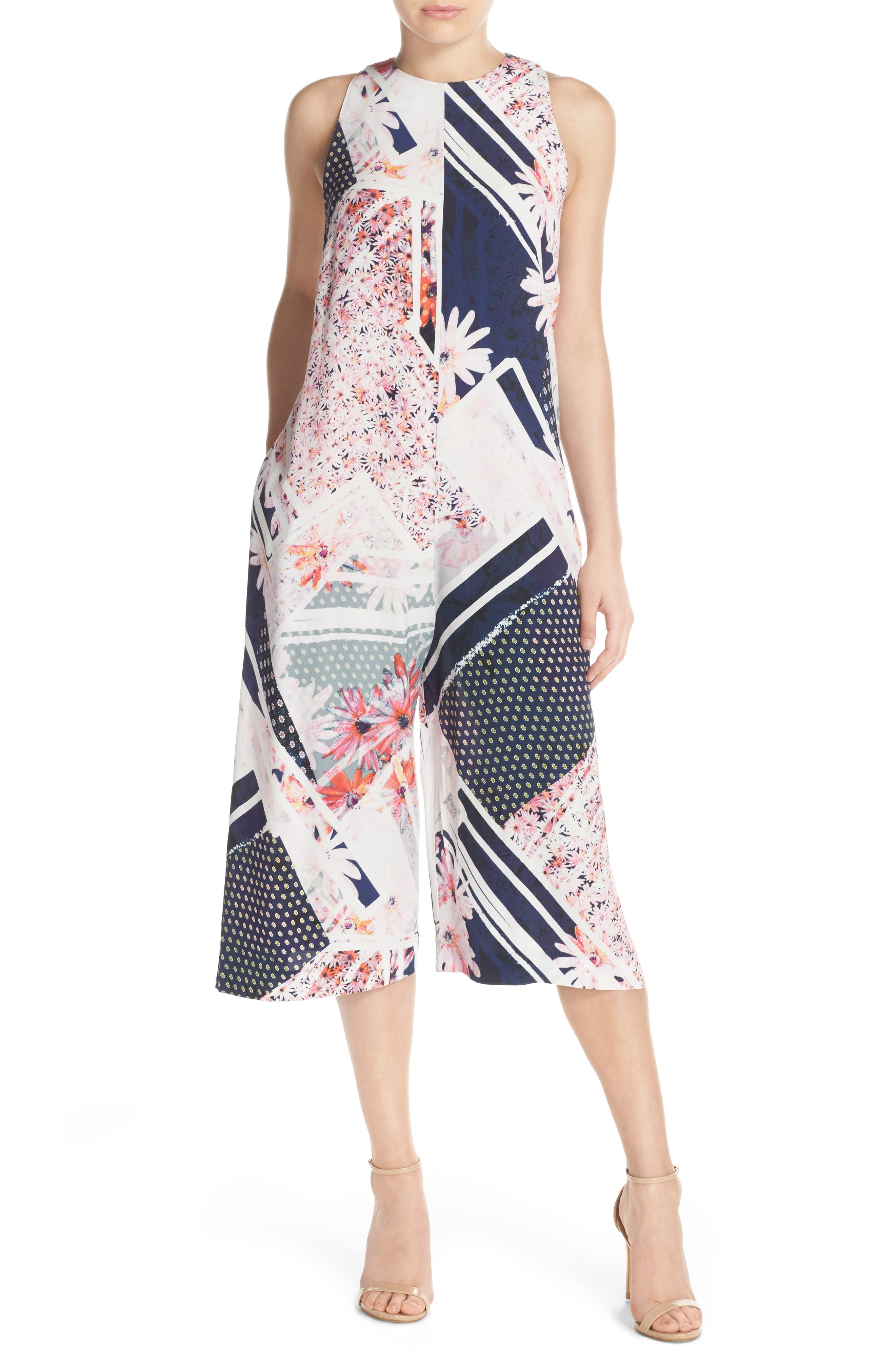 Alternate Image 1 Selected - French Connection Samba Avenue Culotte Jumpsuit