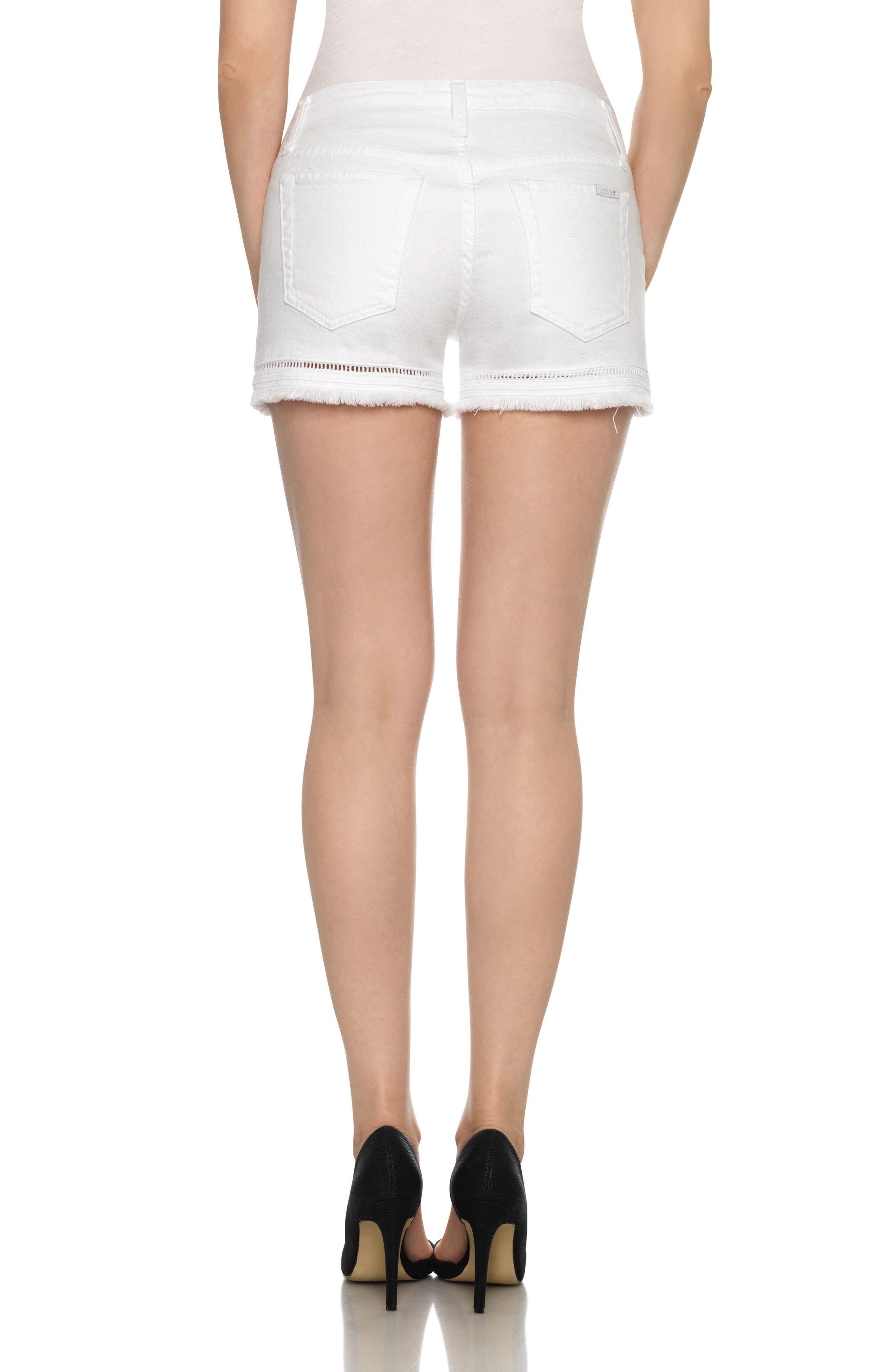Ozzie Cutoff Denim Shorts,                             Alternate thumbnail 2, color,                             Edma