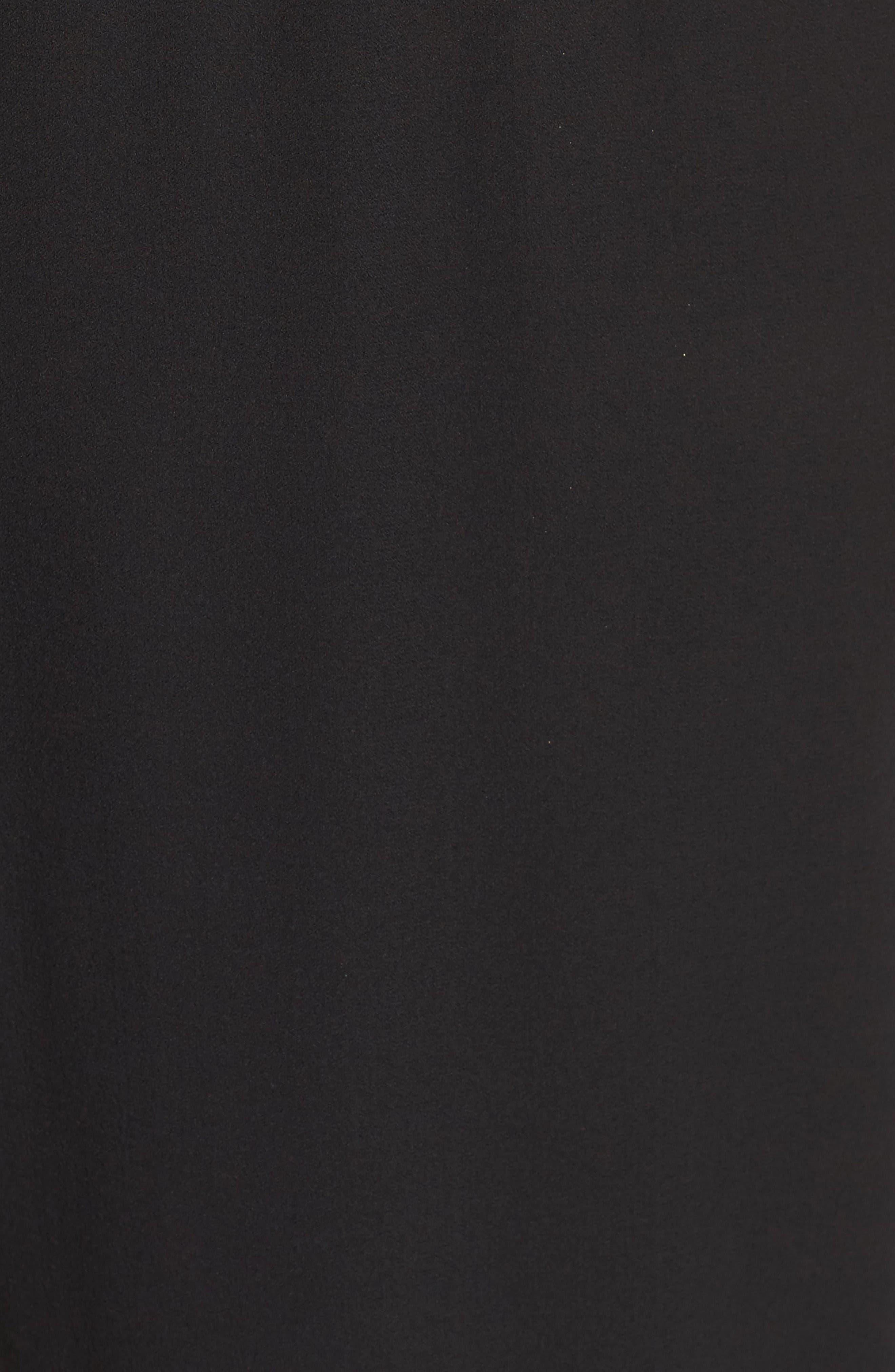 Silk Georgette Crop Pants,                             Alternate thumbnail 5, color,                             Black