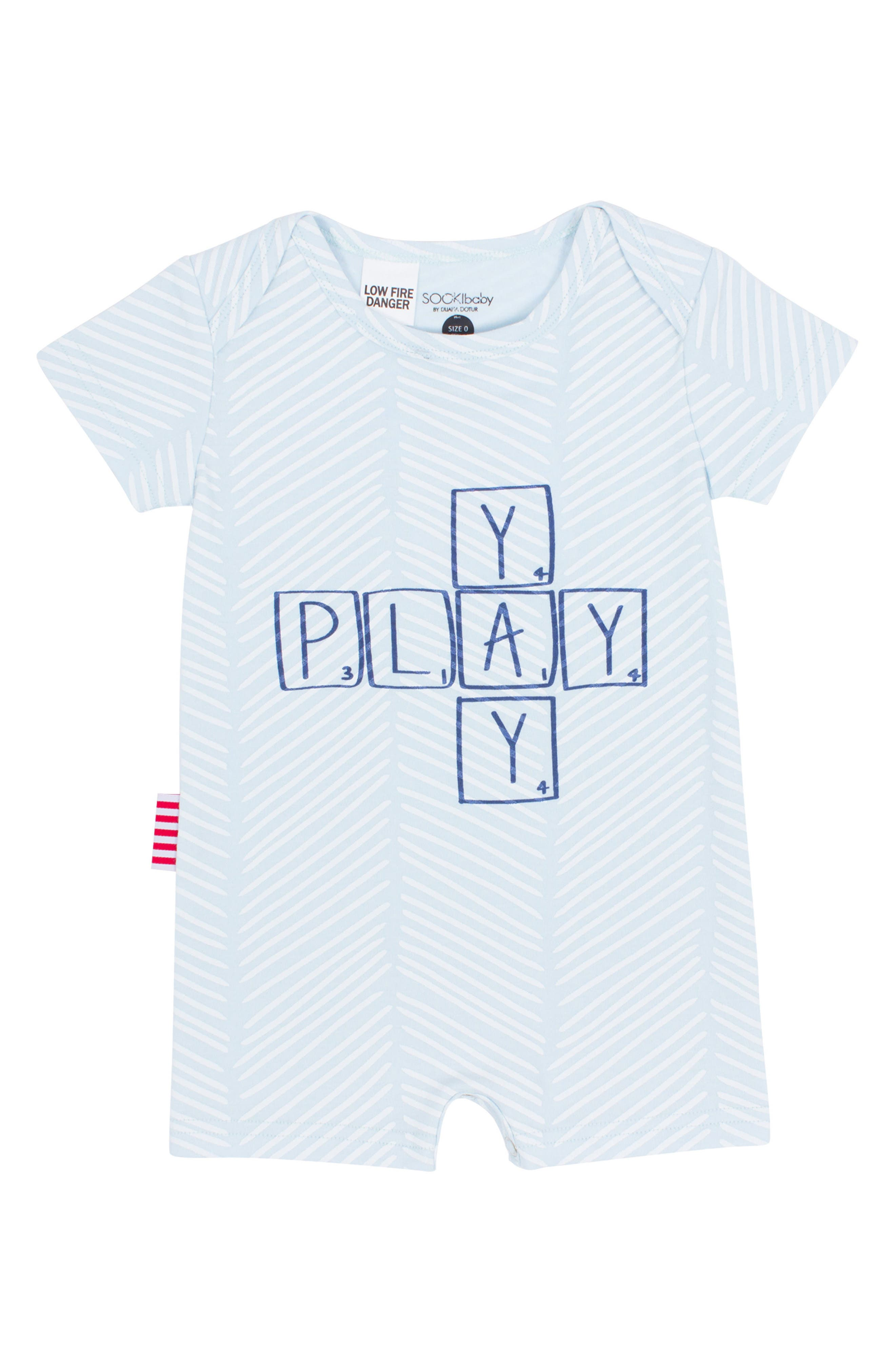 Alternate Image 1 Selected - SOOKIbaby Yay Play Romper (Baby Boys)