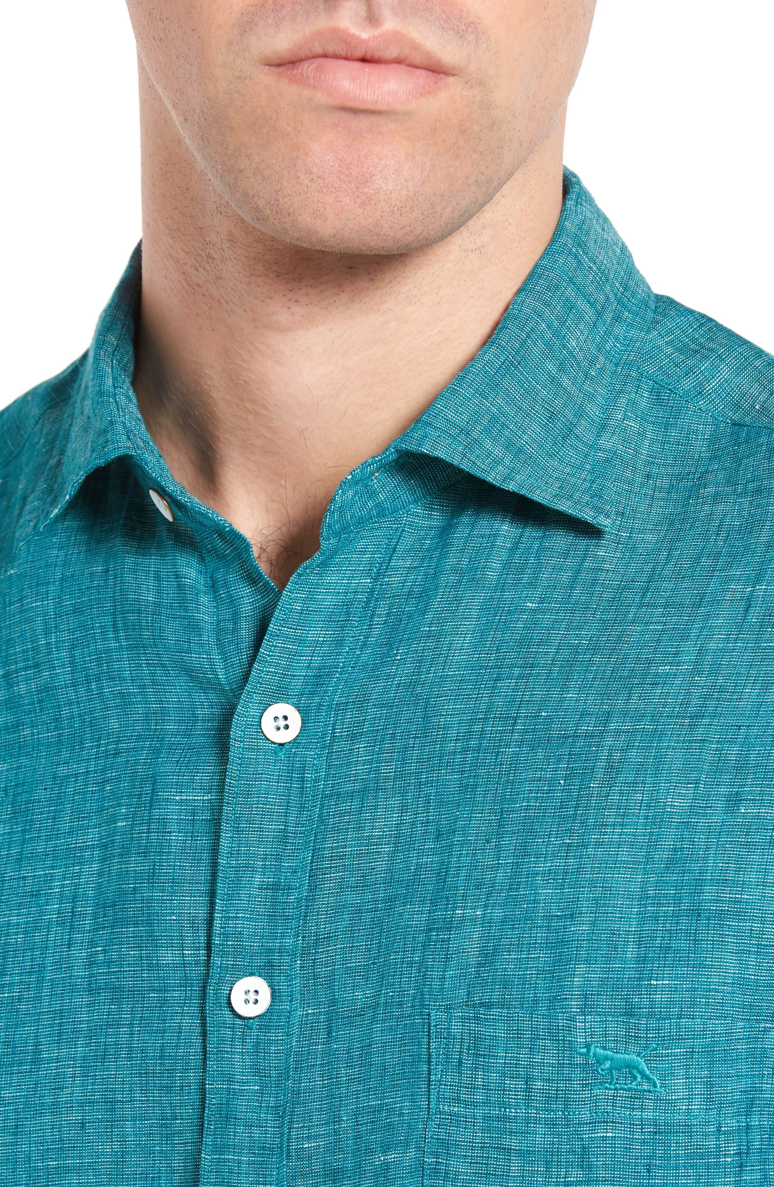 Alternate Image 4  - Rodd & Gunn Norsewood Sports Fit Linen Sport Shirt