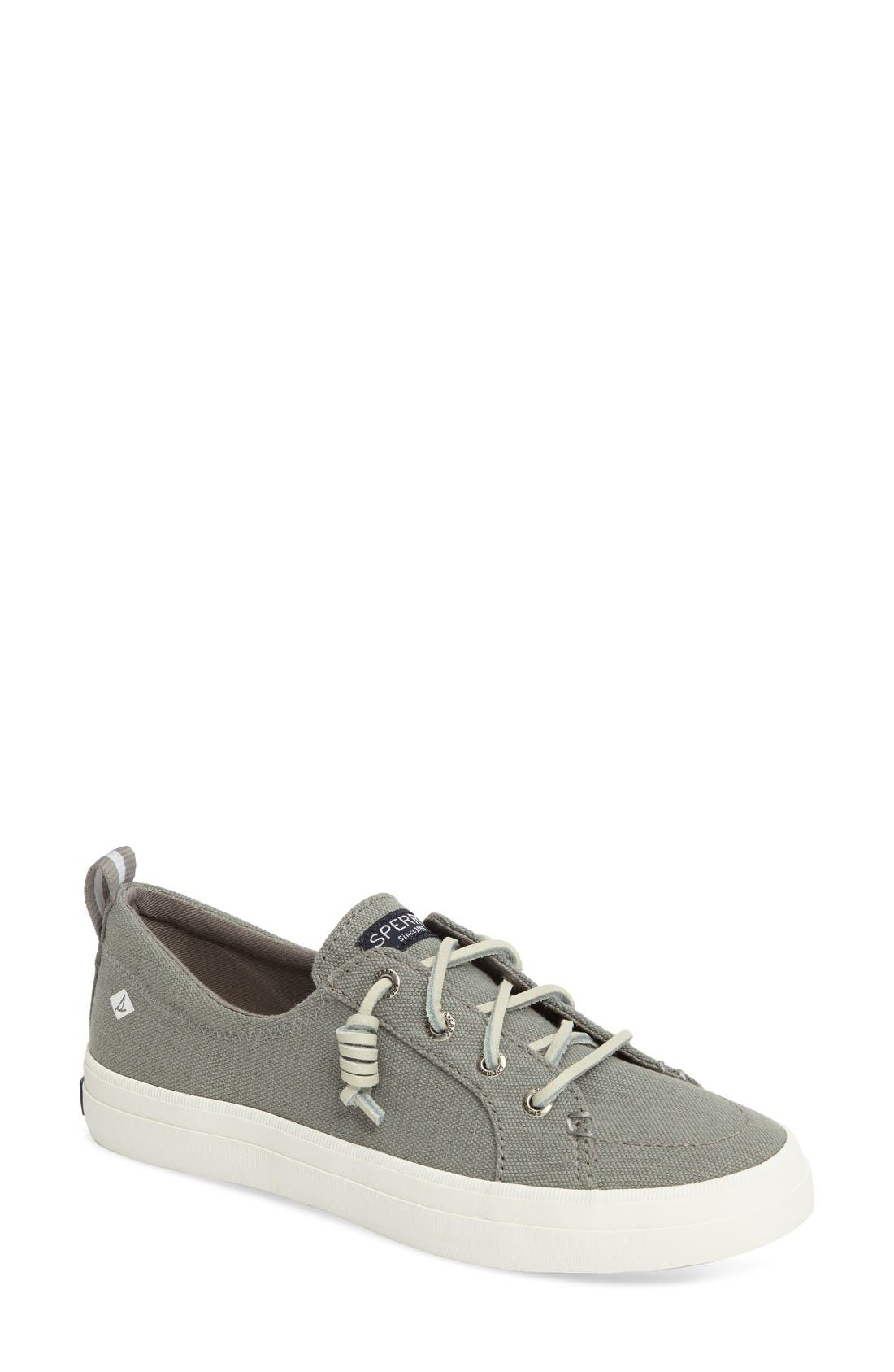 Crest Vibe Sneaker,                         Main,                         color, Grey Canvas