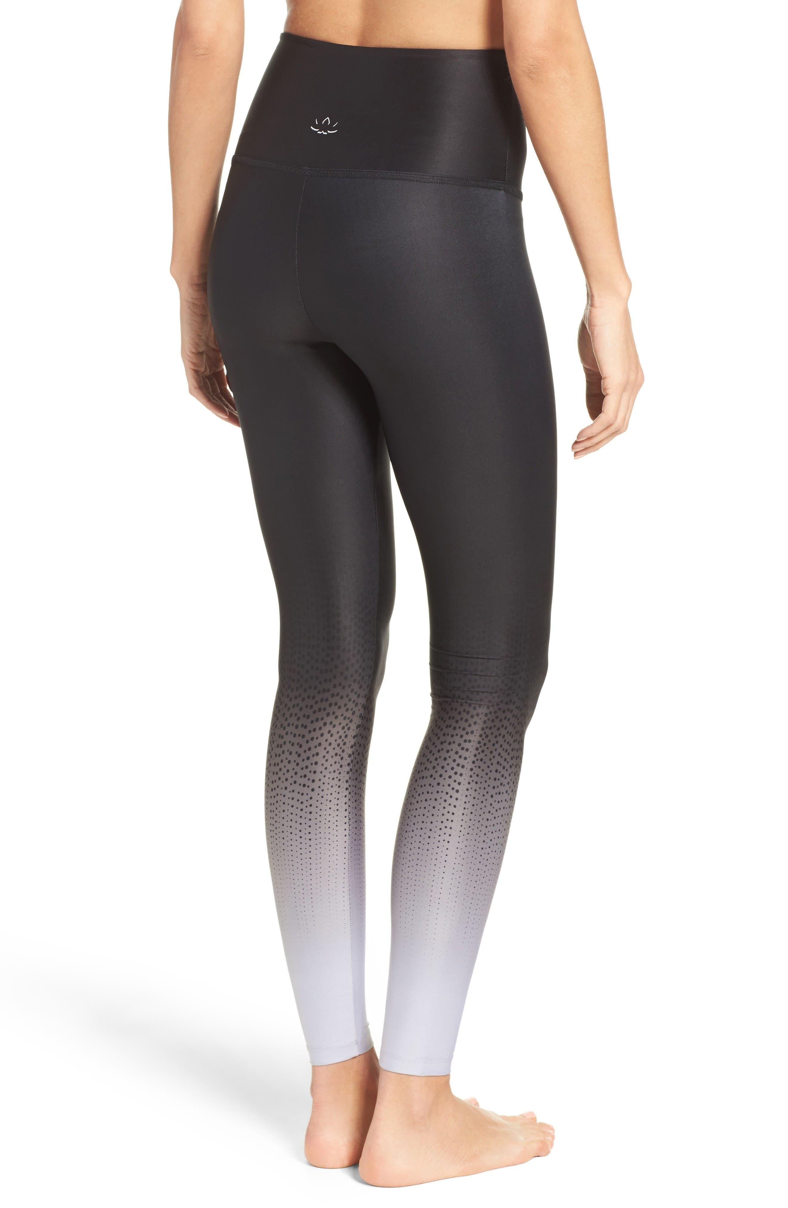 Alternate Image 2  - Beyond Yoga Fade to Black High Waist Leggings