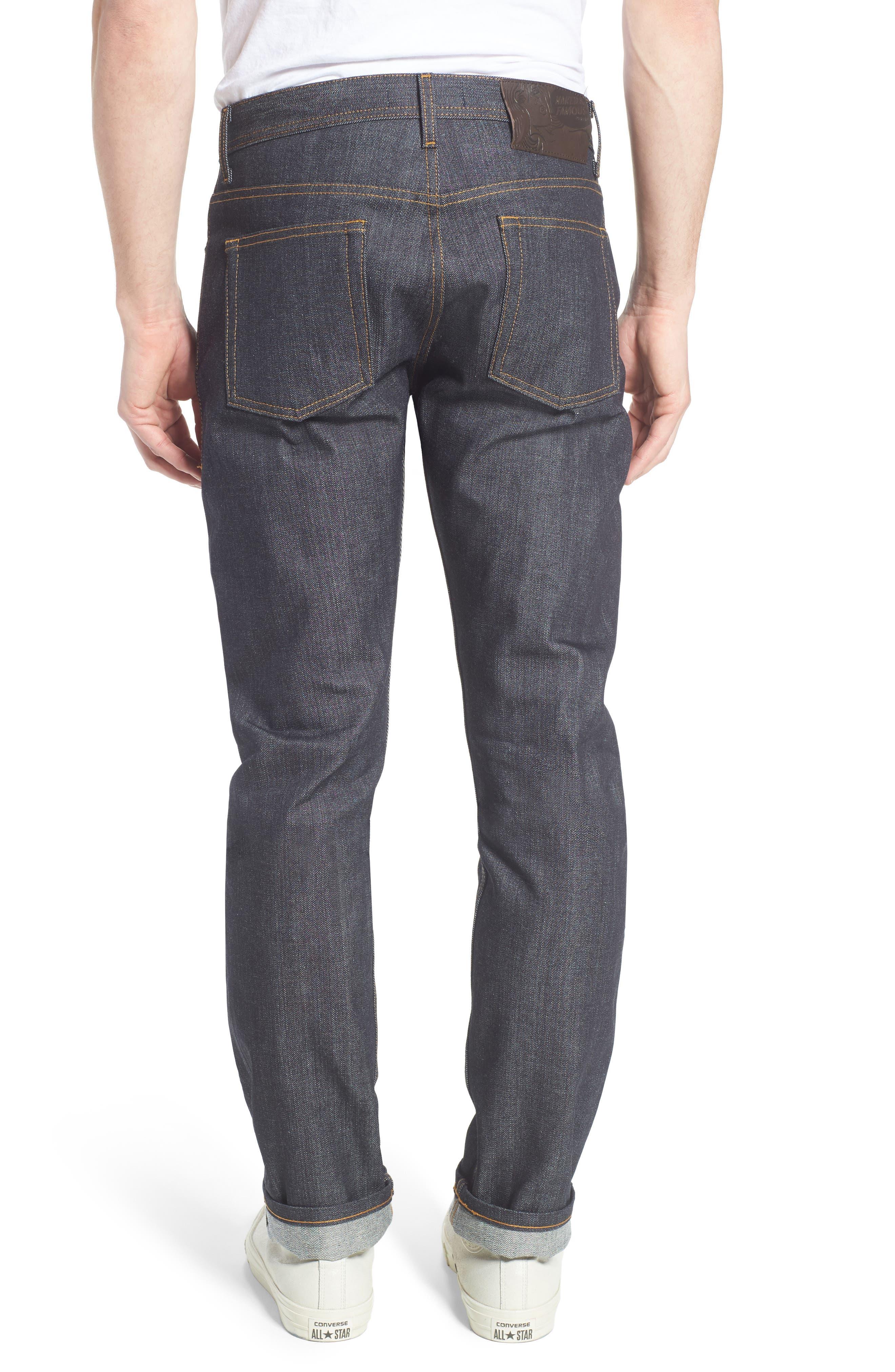 Alternate Image 2  - Naked & Famous Denim Weird Guy Slim Fit Jeans (Left Hand Twill Selvedge)