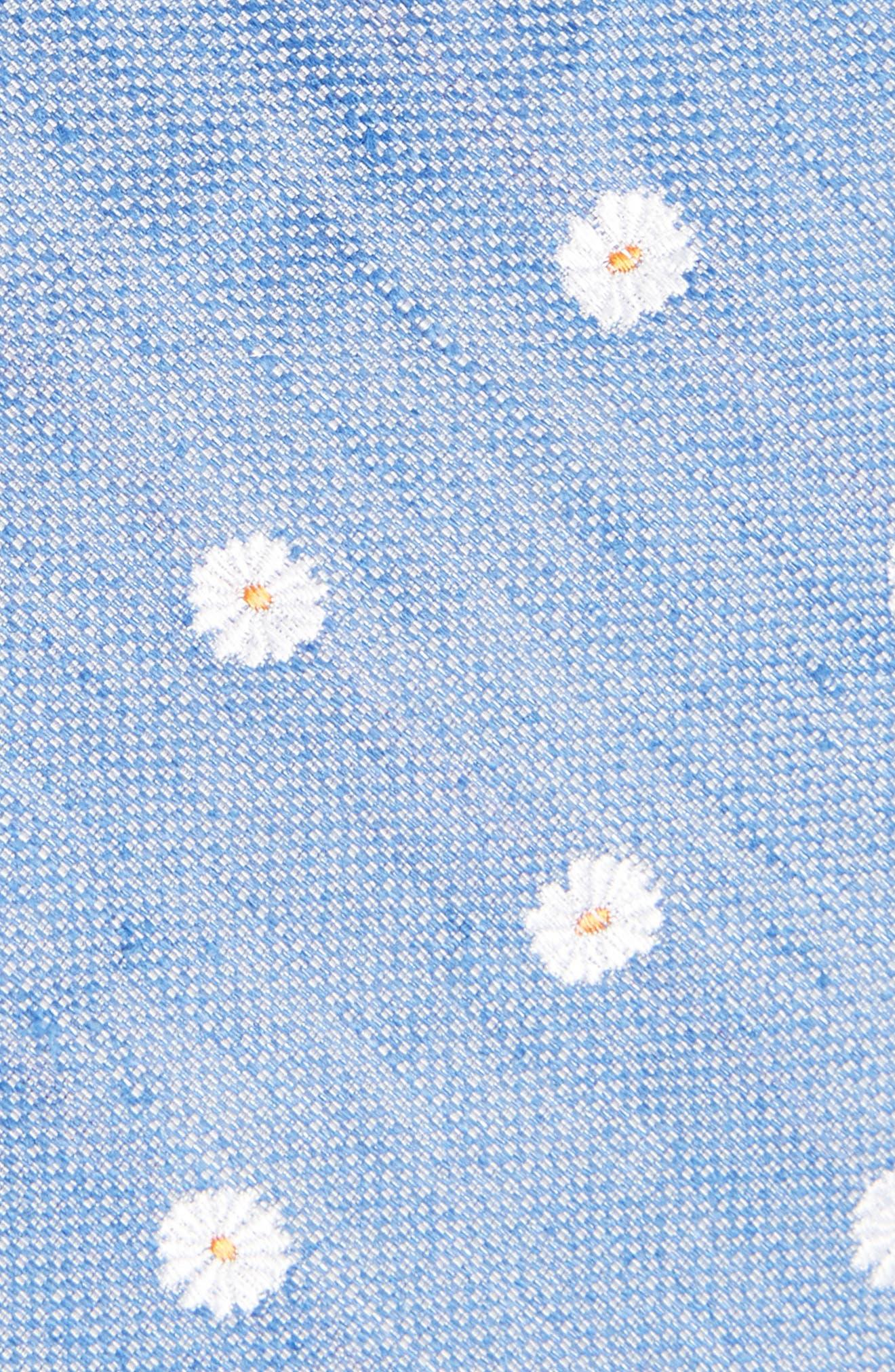 Hogard Floral Linen & Silk Skinny Tie,                             Alternate thumbnail 2, color,                             Blue