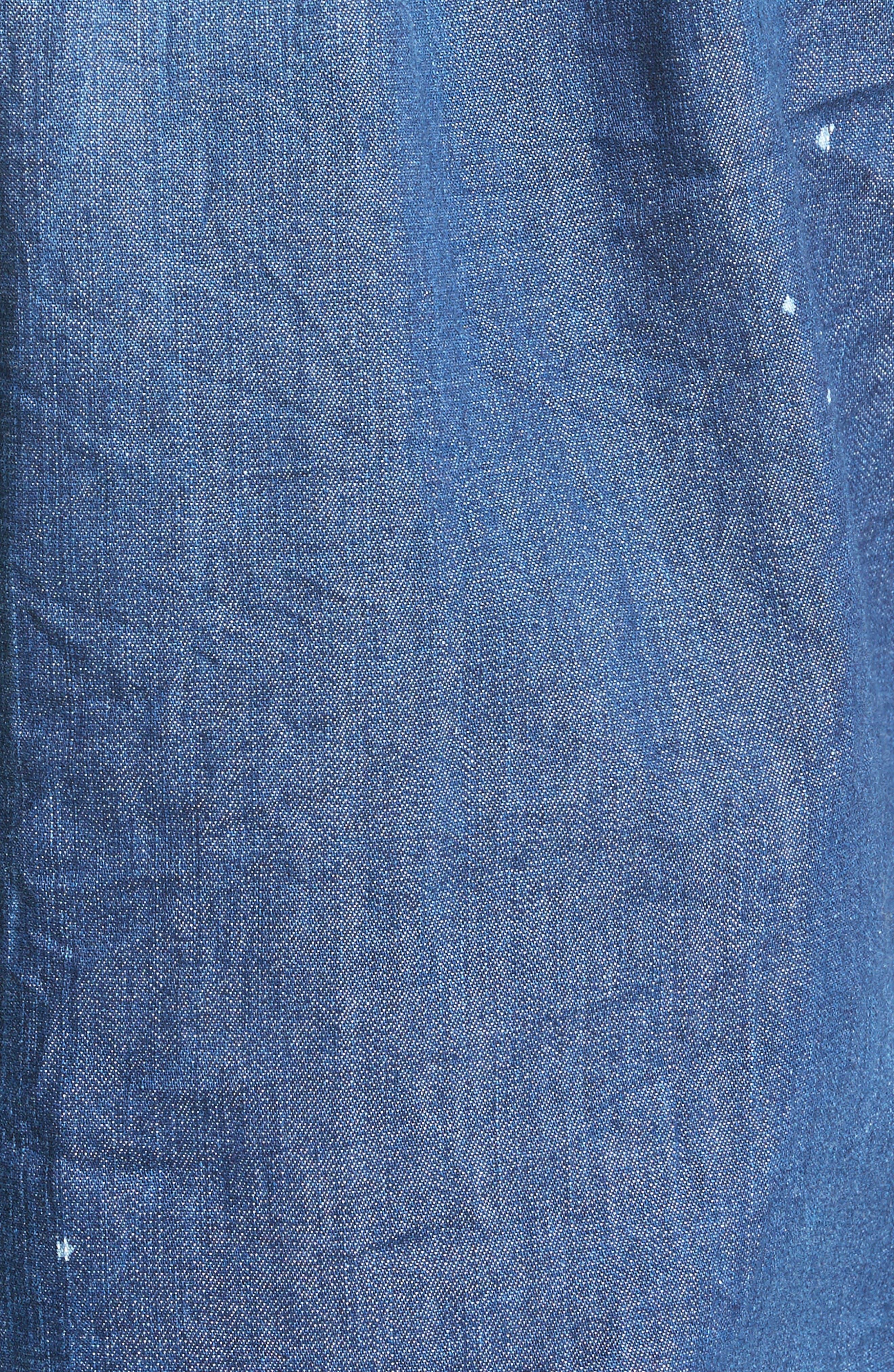 Alternate Image 5  - Dsquared2 Extra Trim Fit Distressed Denim Sport Shirt