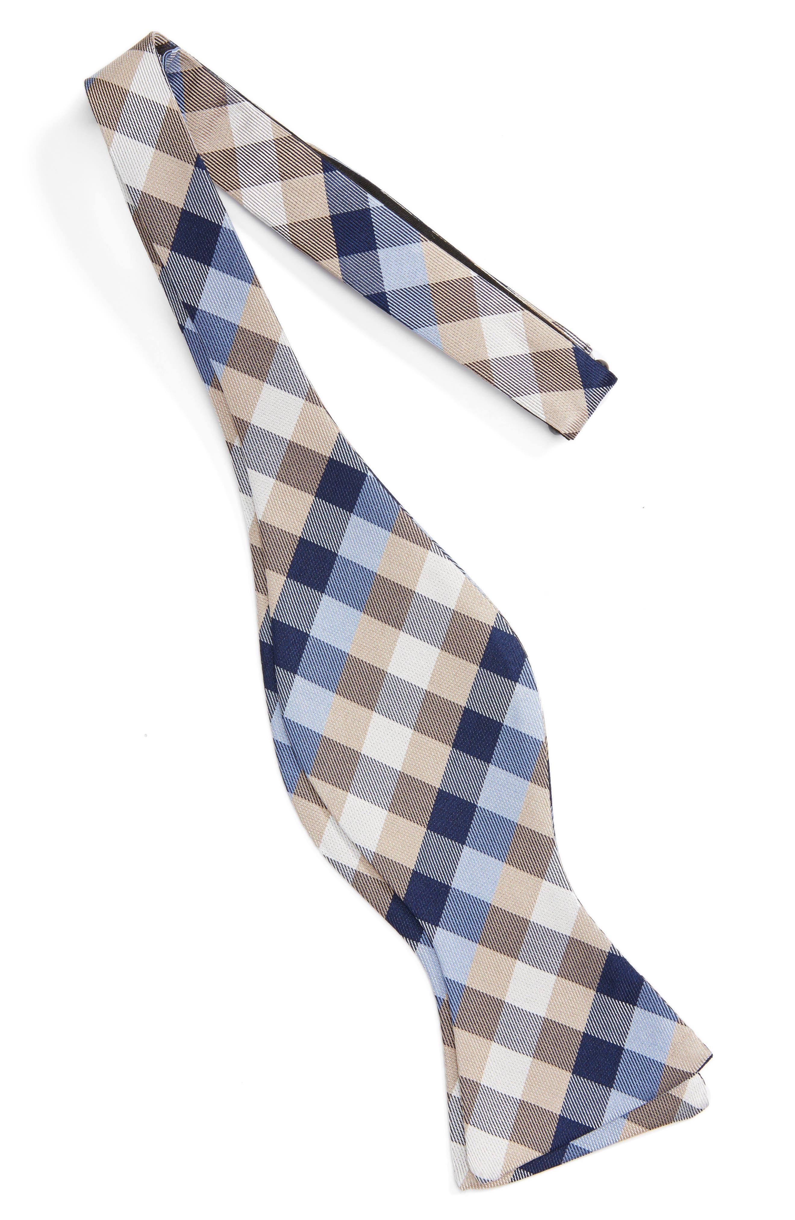 Alternate Image 2  - John W. Nordstrom® Check Silk Bow Tie