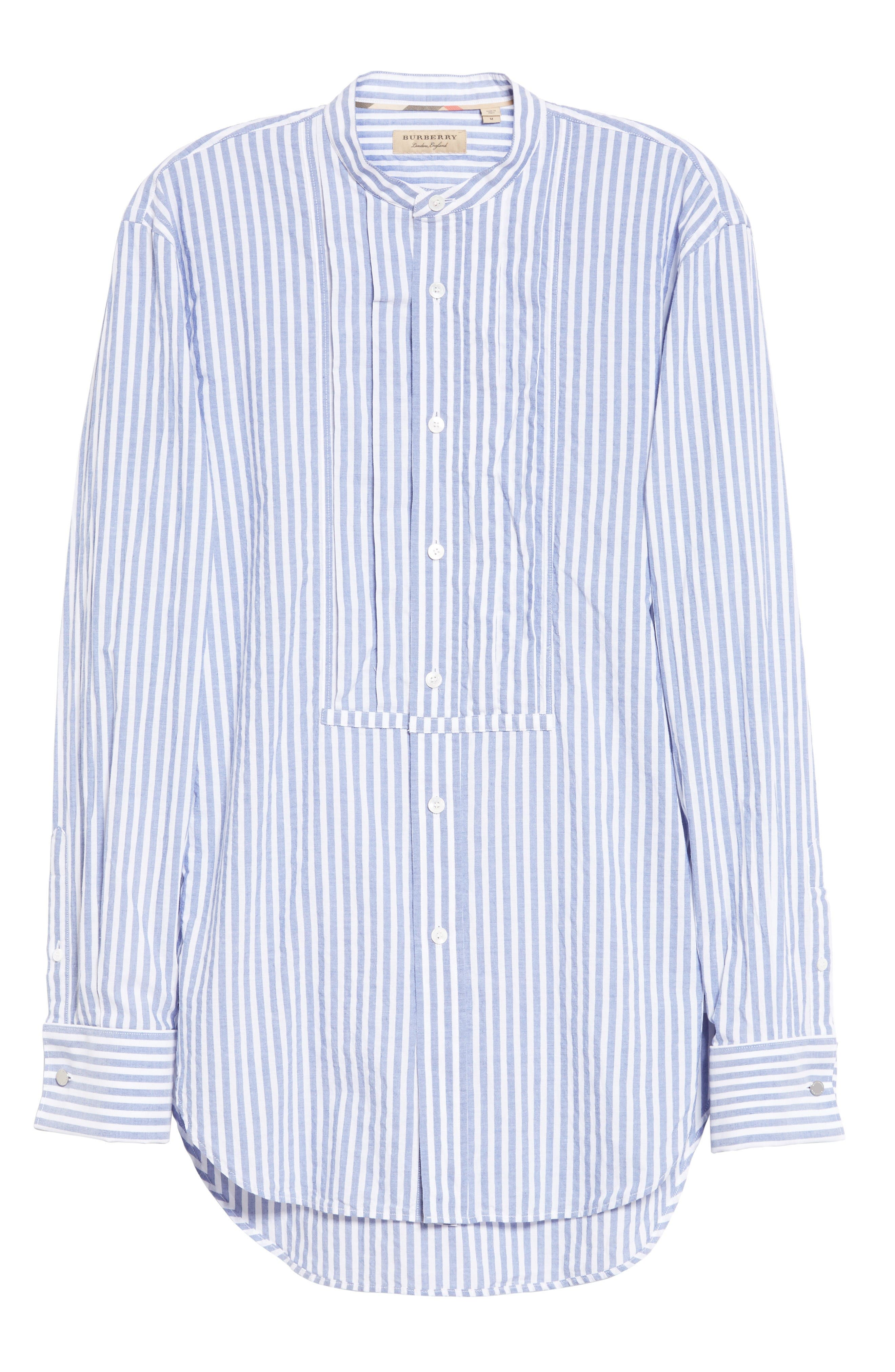 Benfleet Stripe Cotton Top,                             Alternate thumbnail 4, color,                             Pale Blue/ White