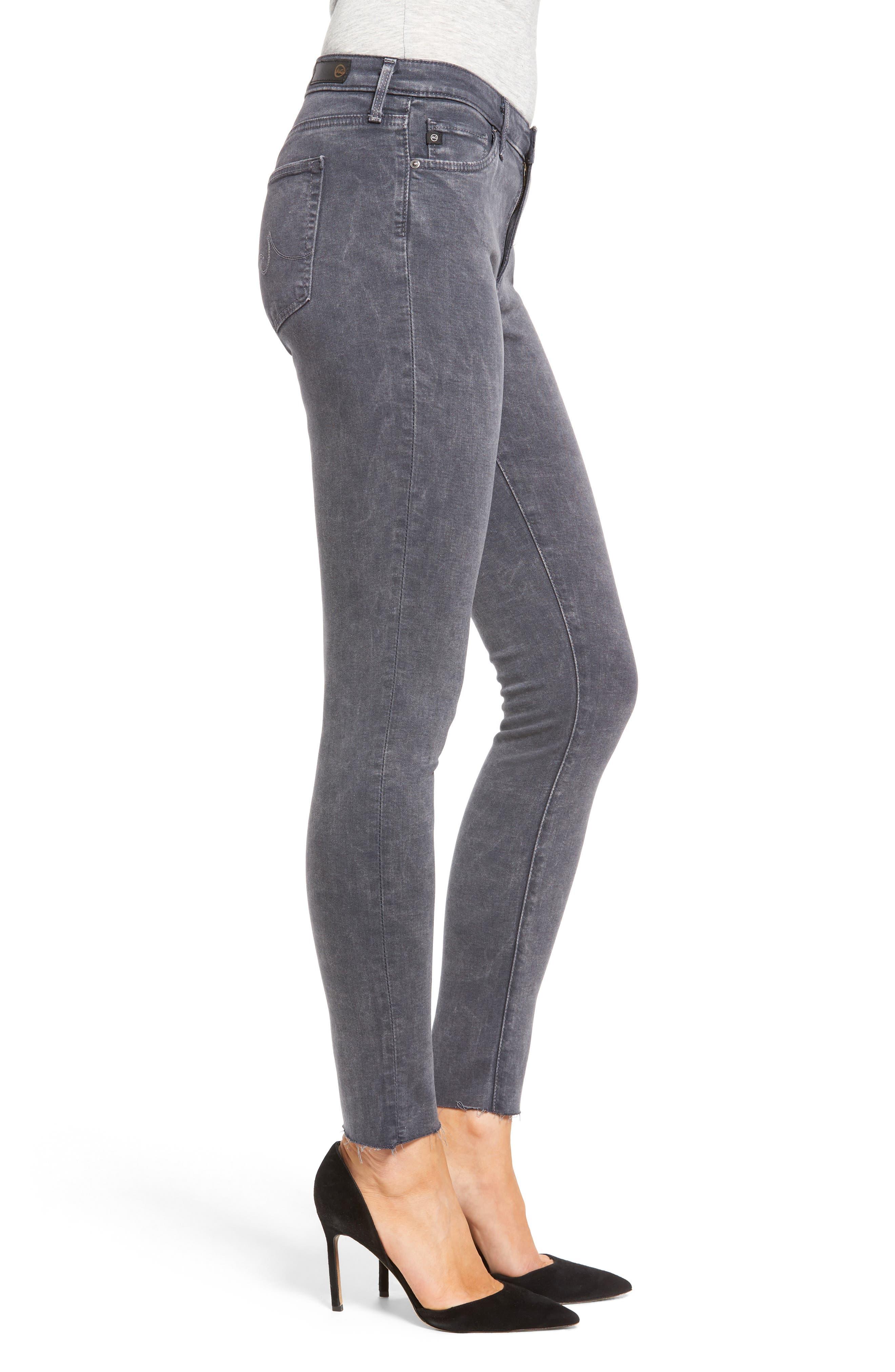 Middi Ankle Skinny Jeans,                             Alternate thumbnail 3, color,                             Erosion