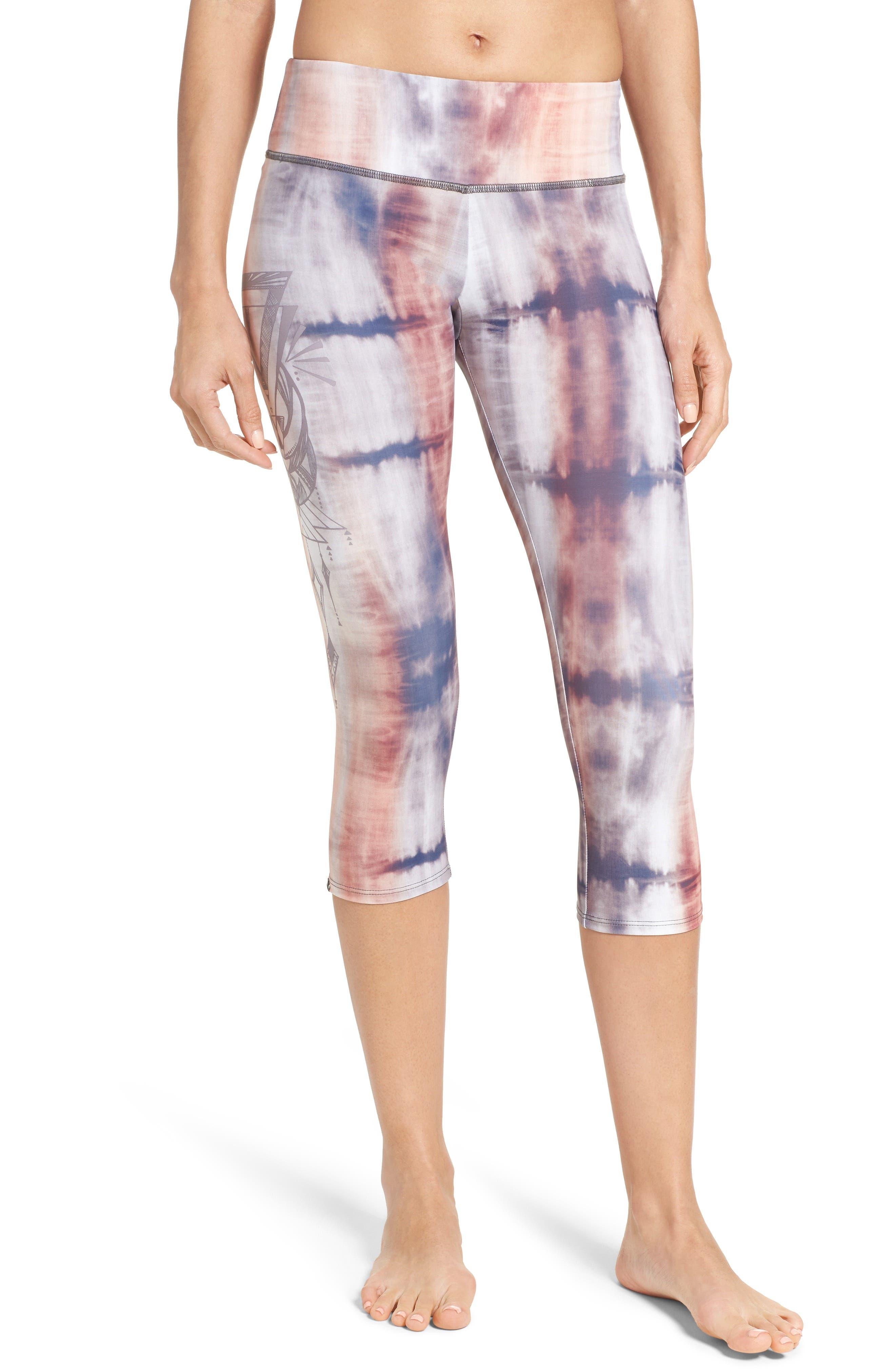 Alternate Image 1 Selected - Onzie Graphic Print Capri Leggings