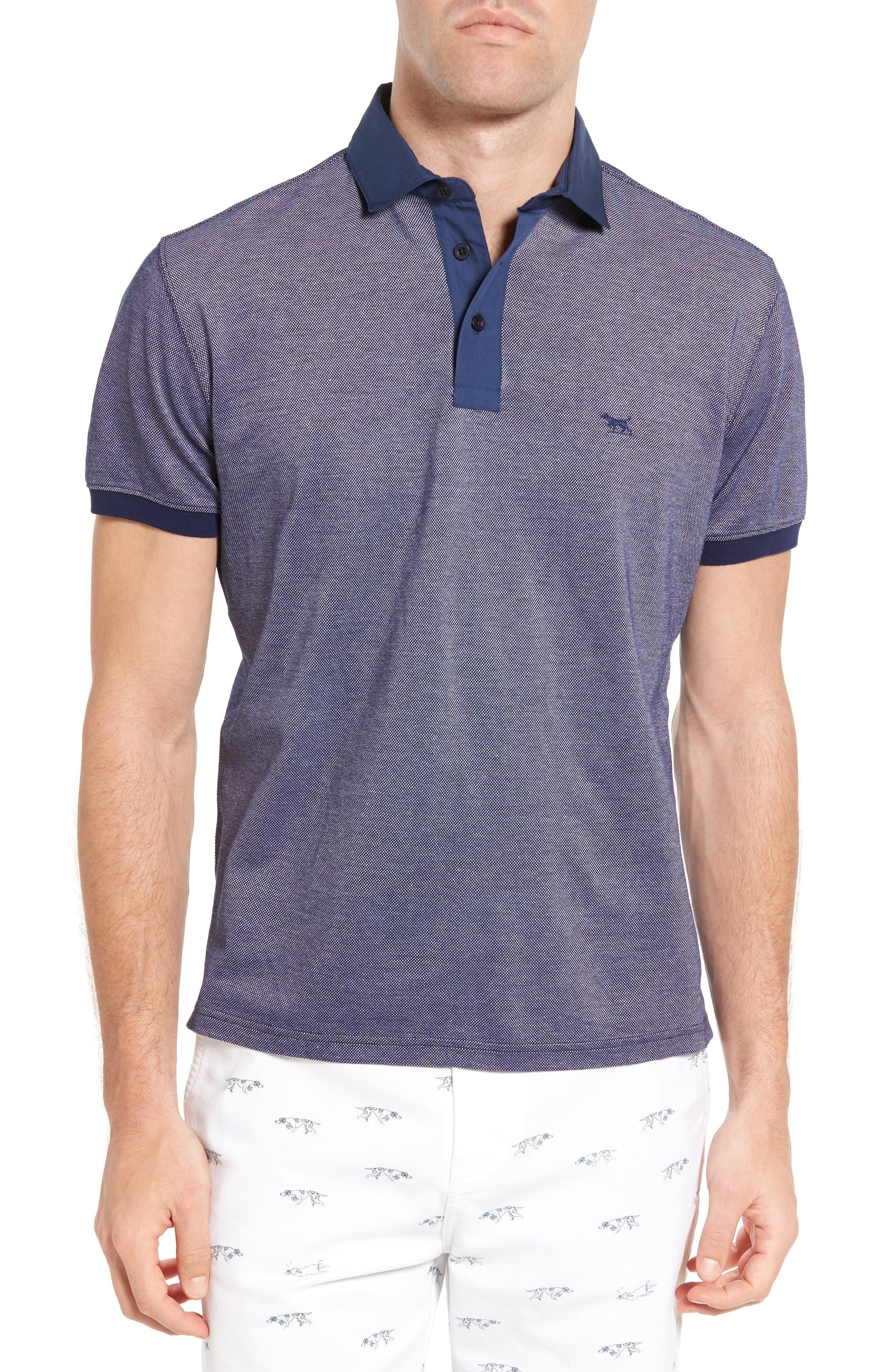 Fisher Parade Sports Fit Polo,                         Main,                         color, Navy