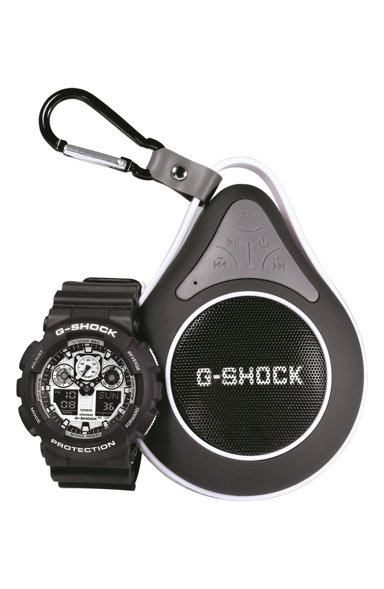 G-SHOCK BABY-G G-Shock Ana-Digi Watch & Speaker Set, 55mm