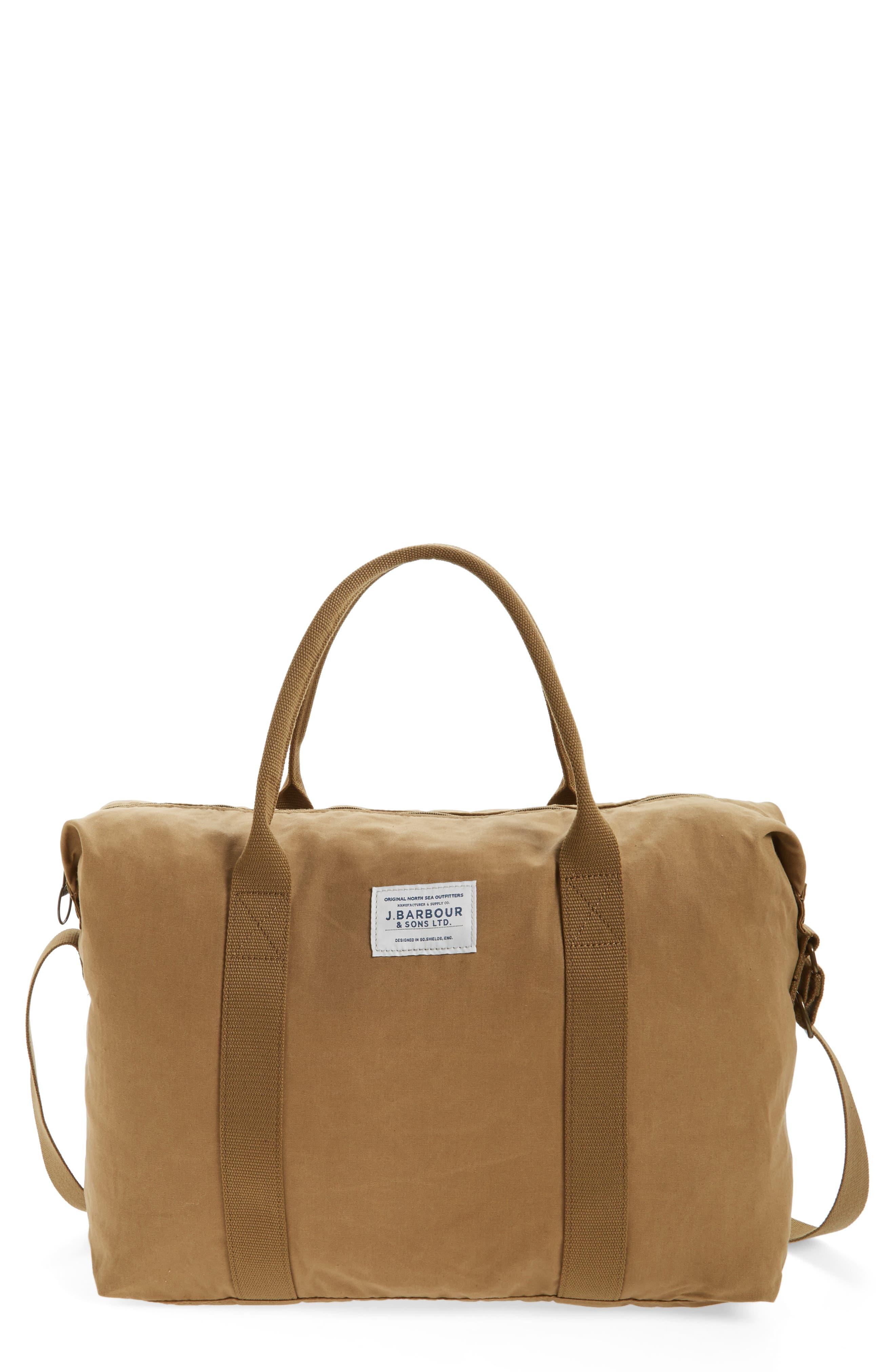 Dromond Canvas Holdall Bag,                         Main,                         color, Sand