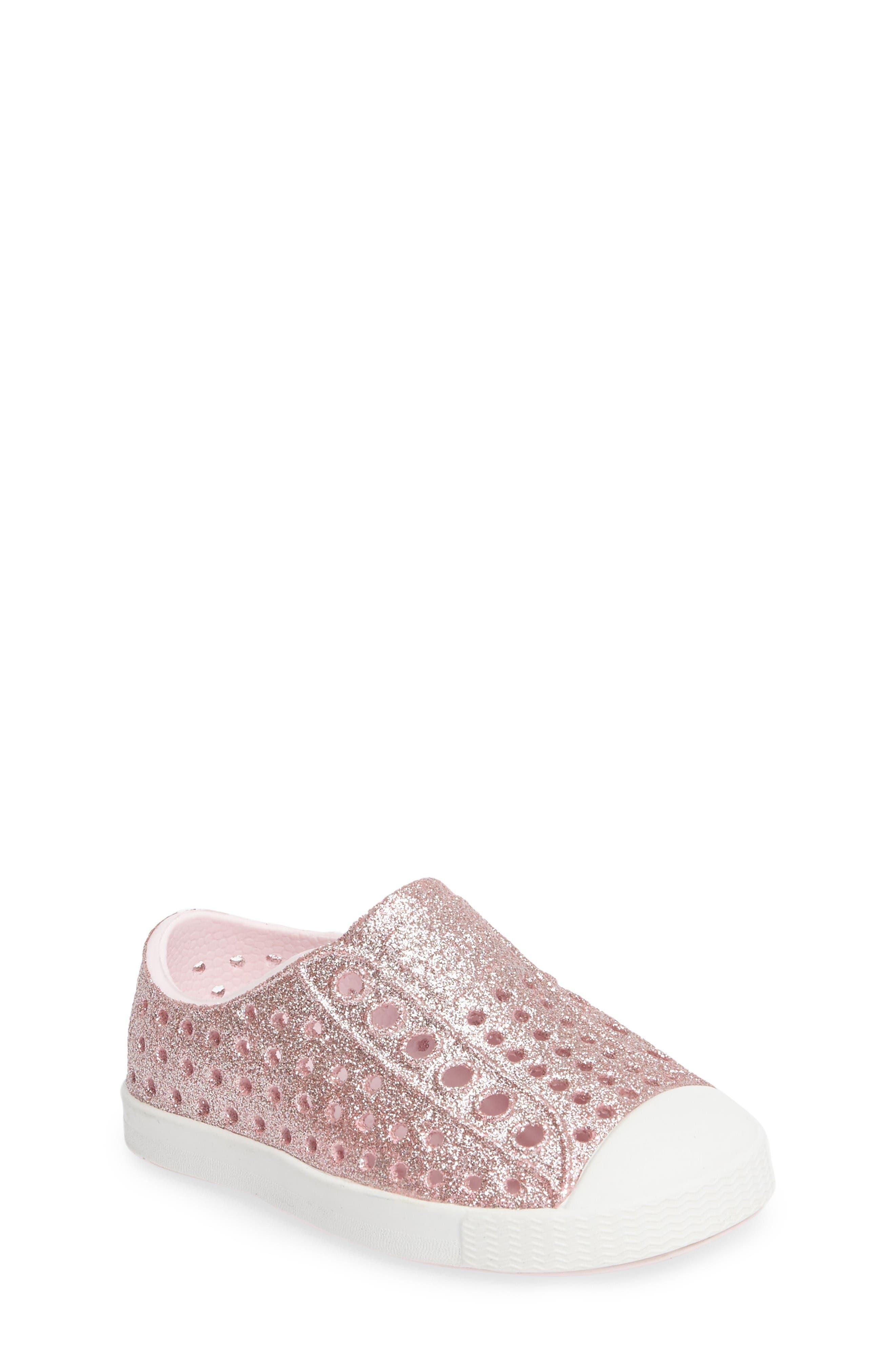Native Shoes Jefferson - Bling Glitter Slip-On Sneaker (Baby, Walker, Toddler & Little Kid)