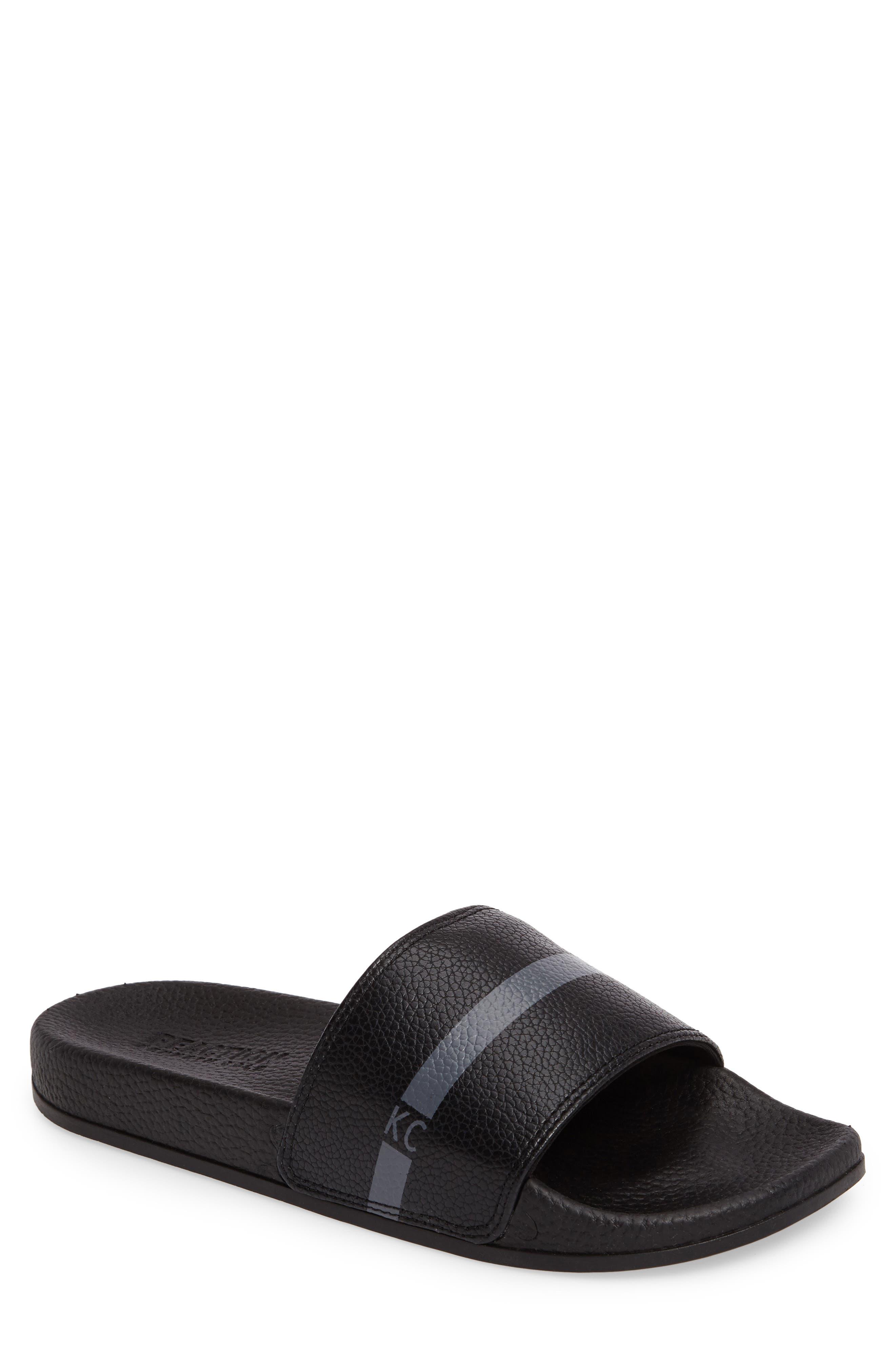 Big Screen Slide Sandal,                         Main,                         color, Black