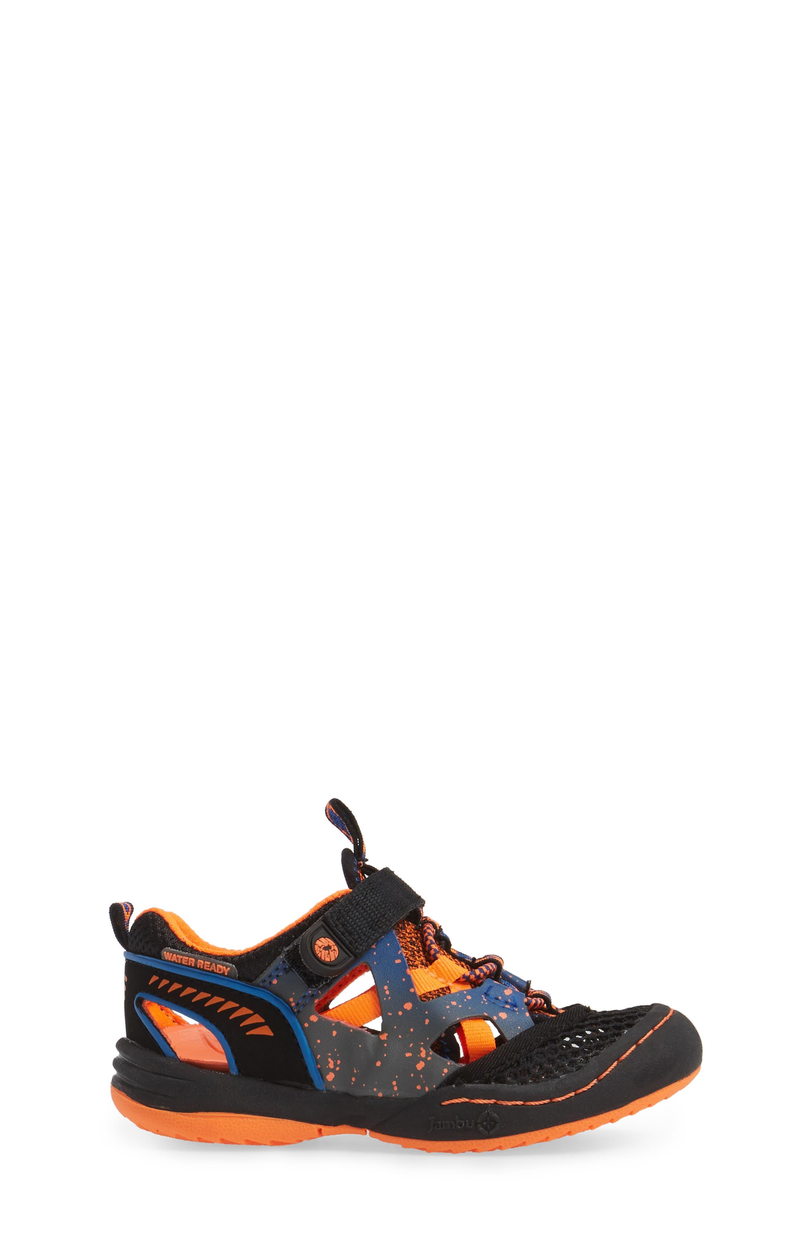 Squamata Sport Sneaker,                             Alternate thumbnail 3, color,                             Black/ Orange
