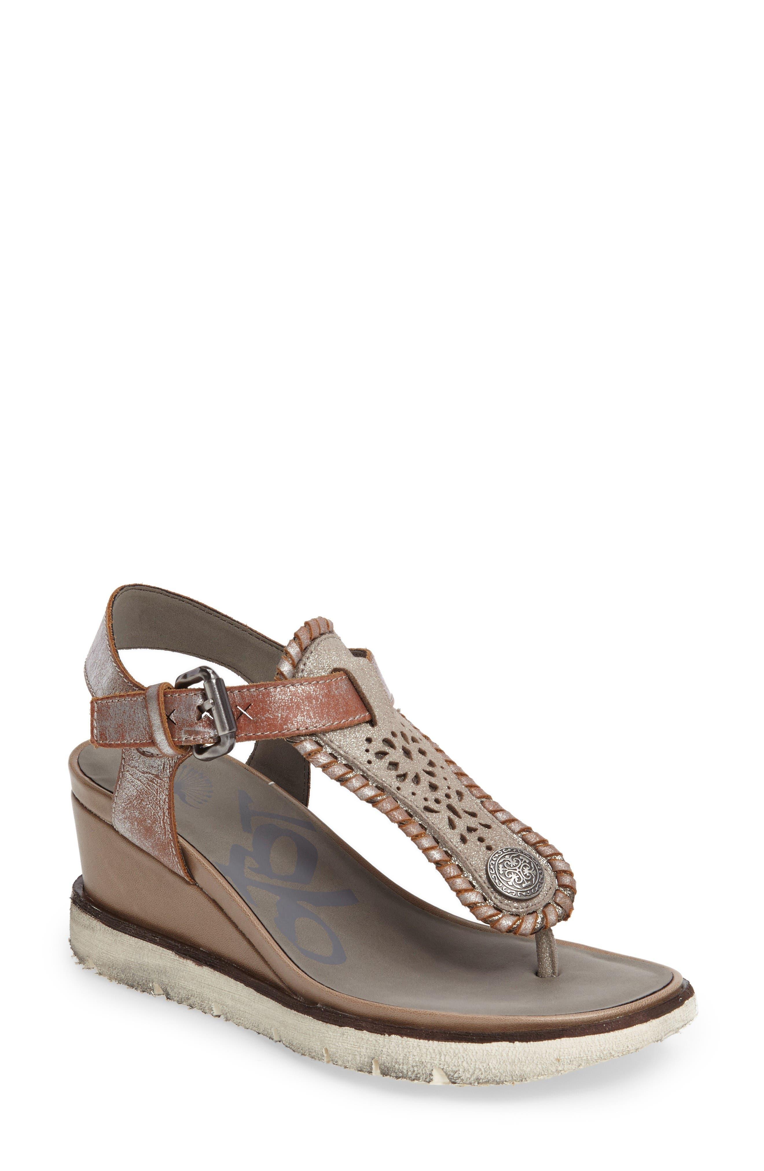 Excursion Wedge Sandal,                             Main thumbnail 1, color,                             Cloudburst Leather