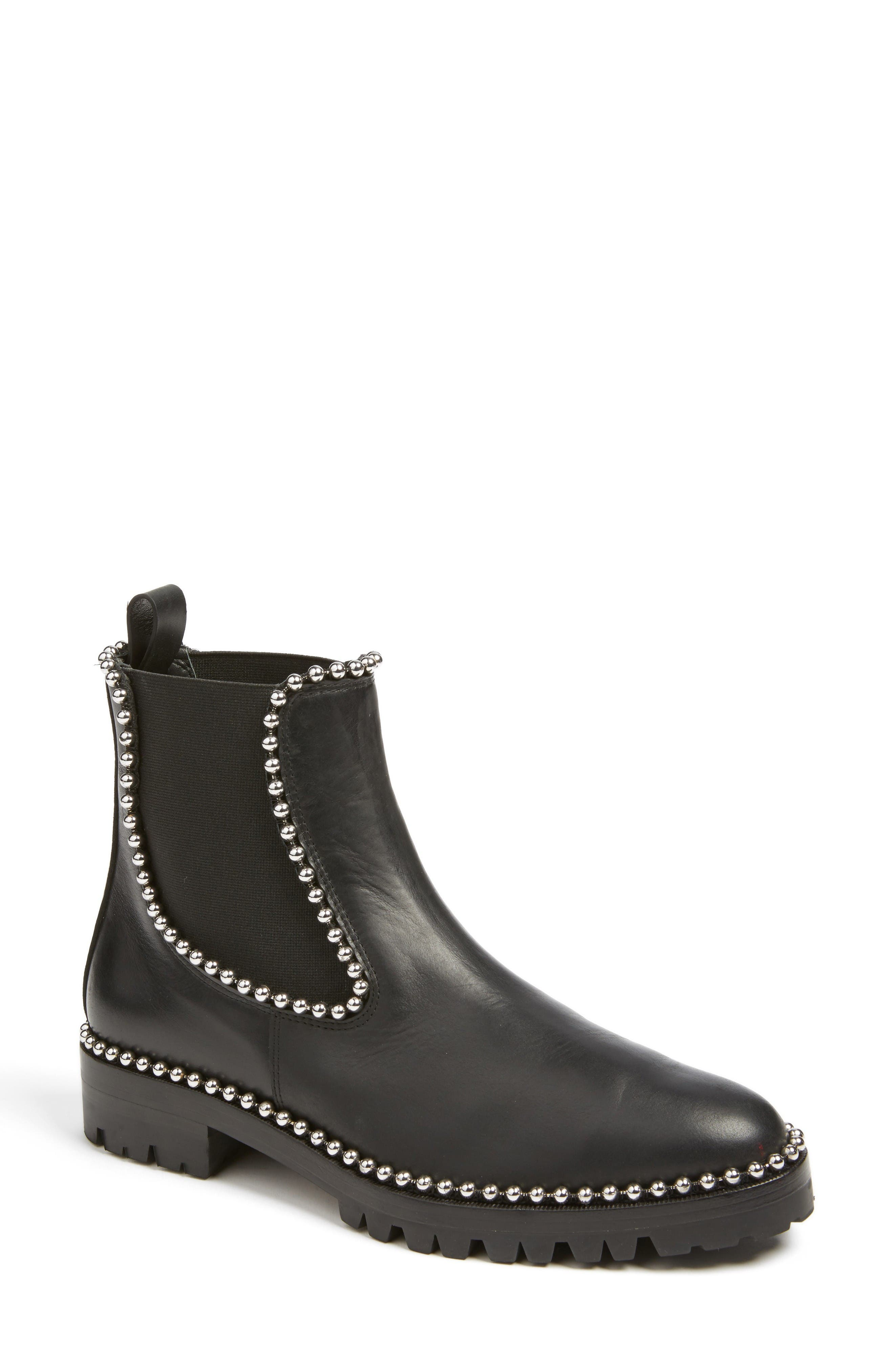 Spencer Chelsea Boot,                         Main,                         color, Black Leather