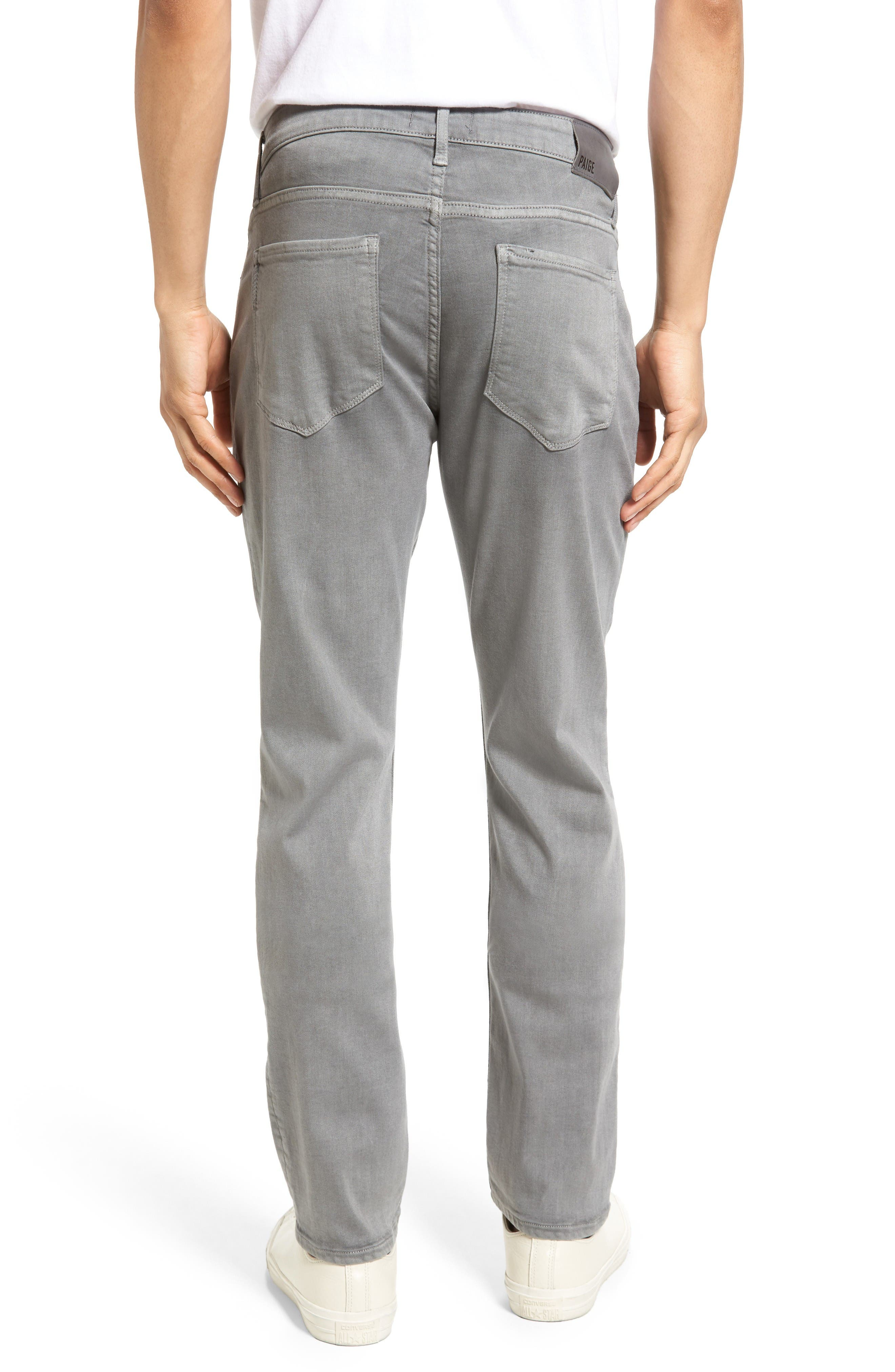 Transcend - Lennox Slim Fit Jeans,                             Alternate thumbnail 2, color,                             Grey Clay