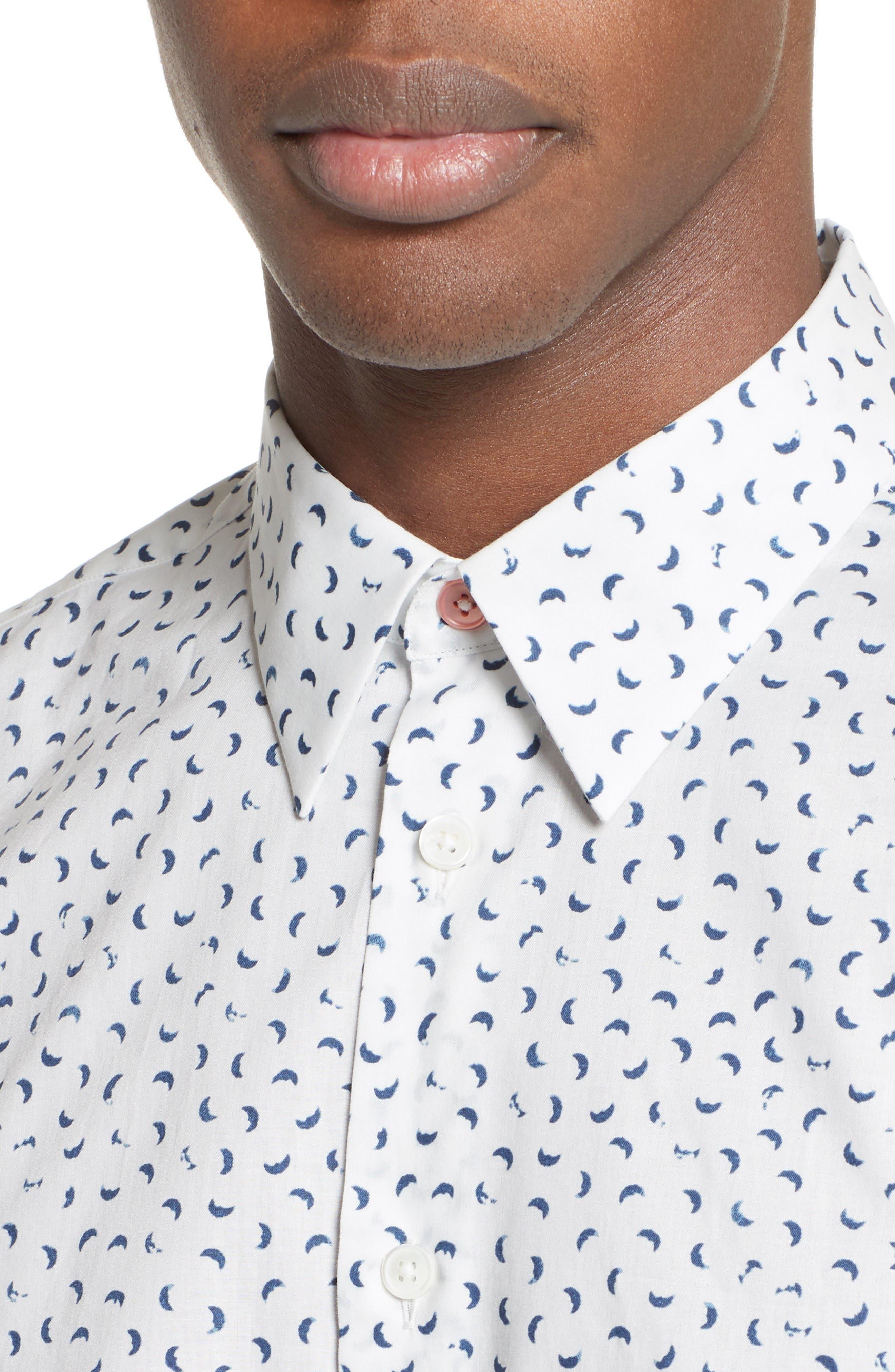 Alternate Image 4  - PS Paul Smith Extra Trim Fit Half Moon Print Sport Shirt