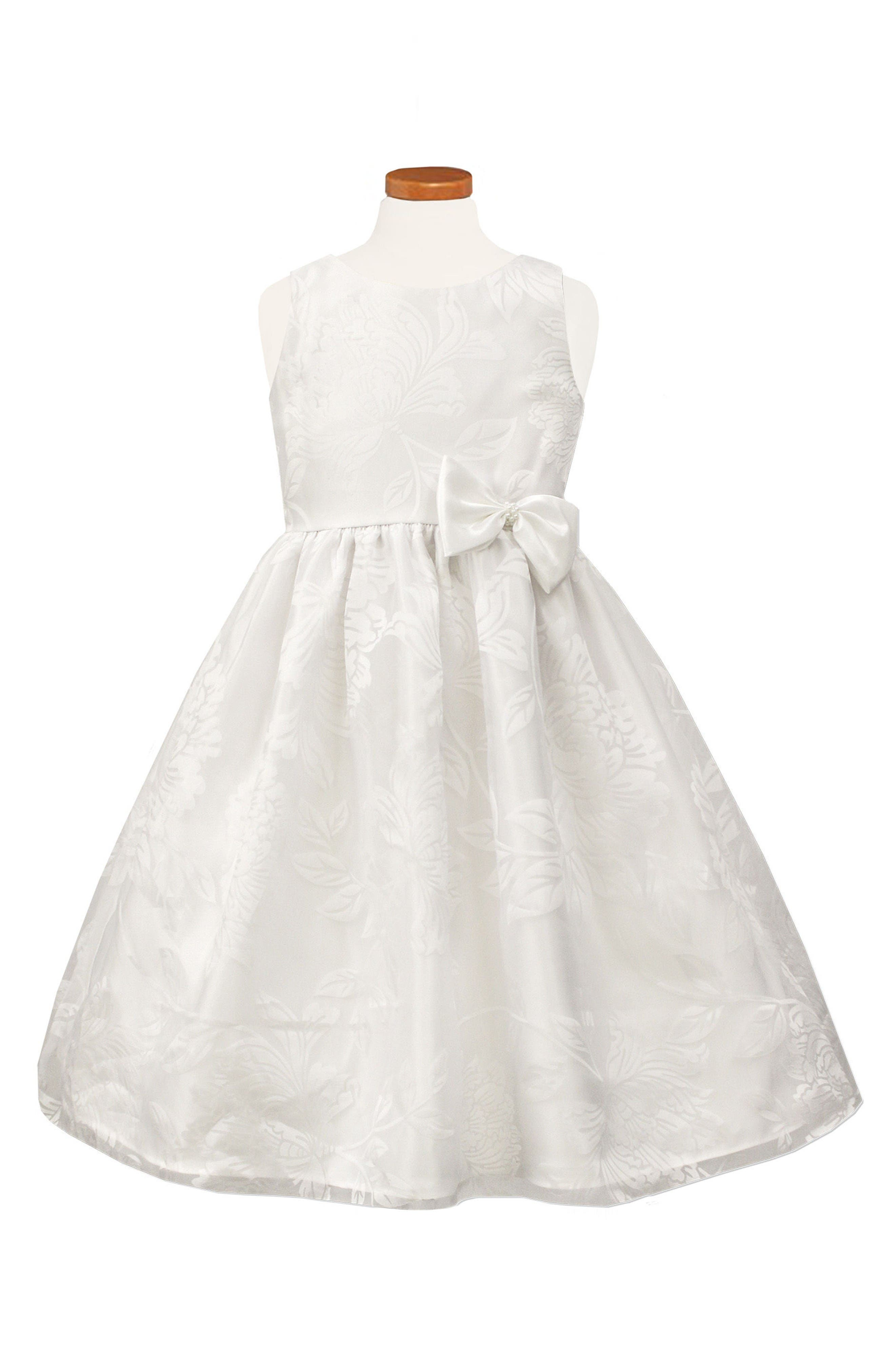 Main Image - Sorbet Floral Burnout Organza Dress (Toddler Girls, Little Girls & Big Girls)