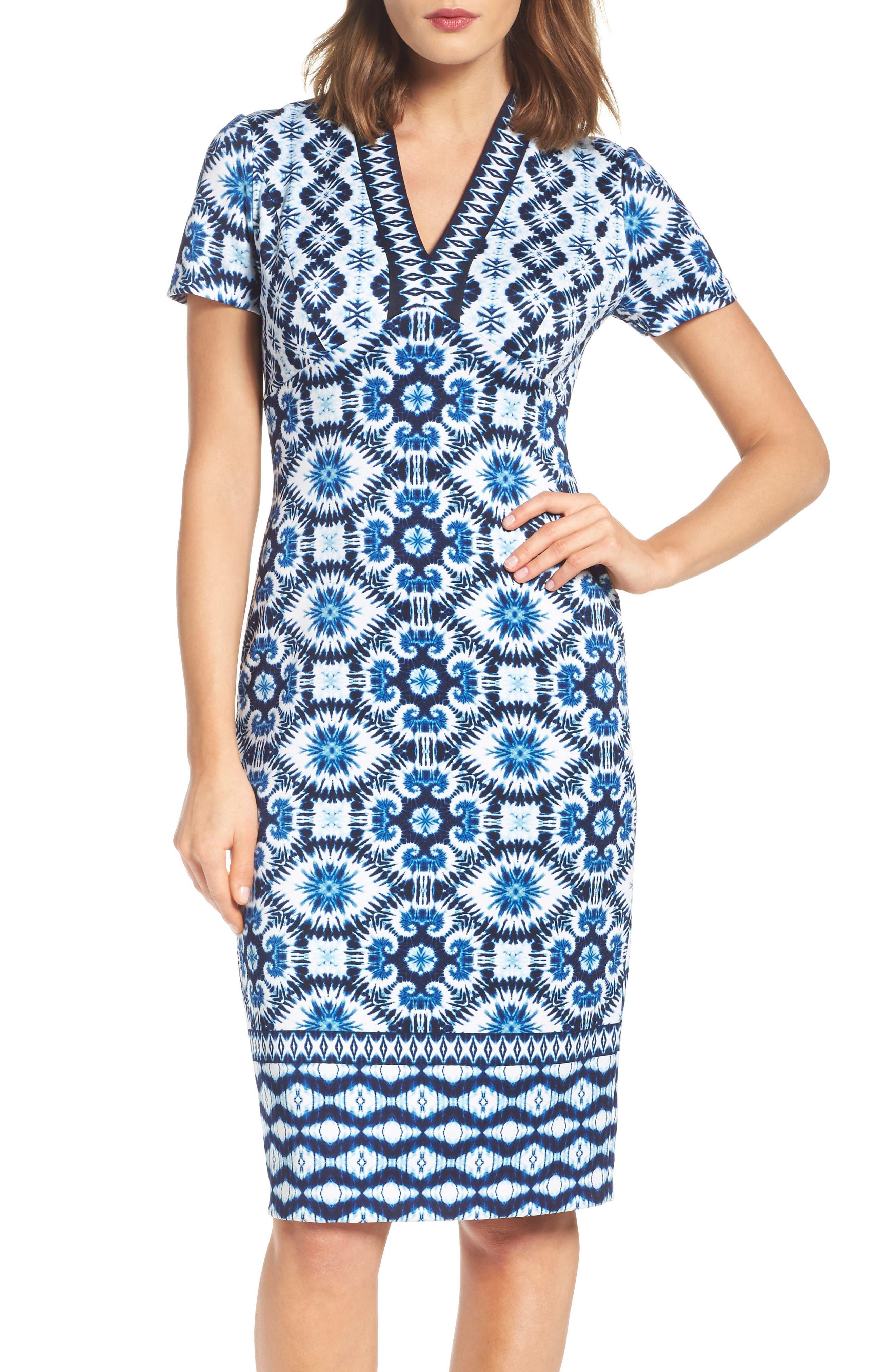 Main Image - Maggy London Ikat Sheath Dress