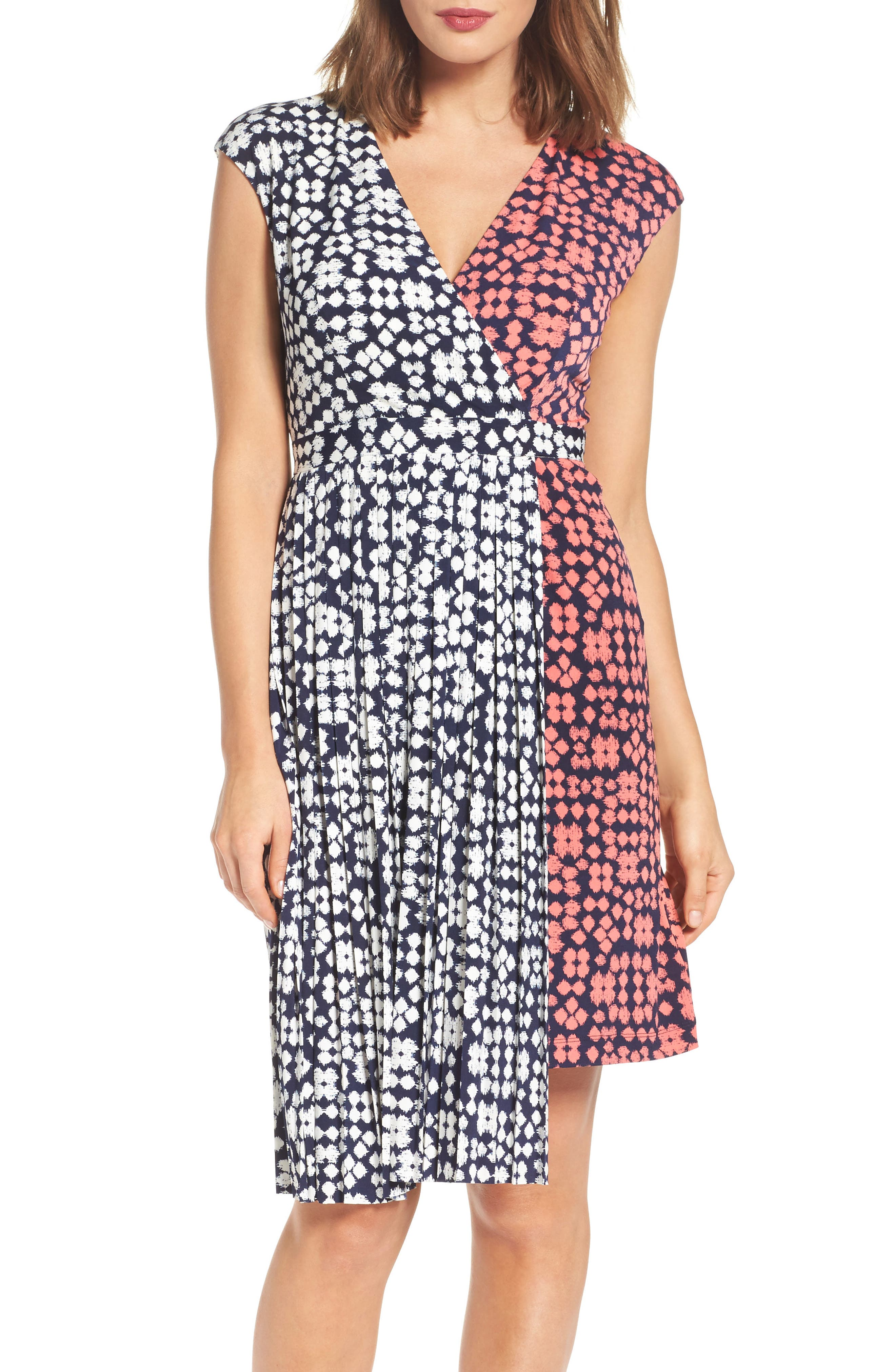 Main Image - Maggy London Print Faux Wrap Dress