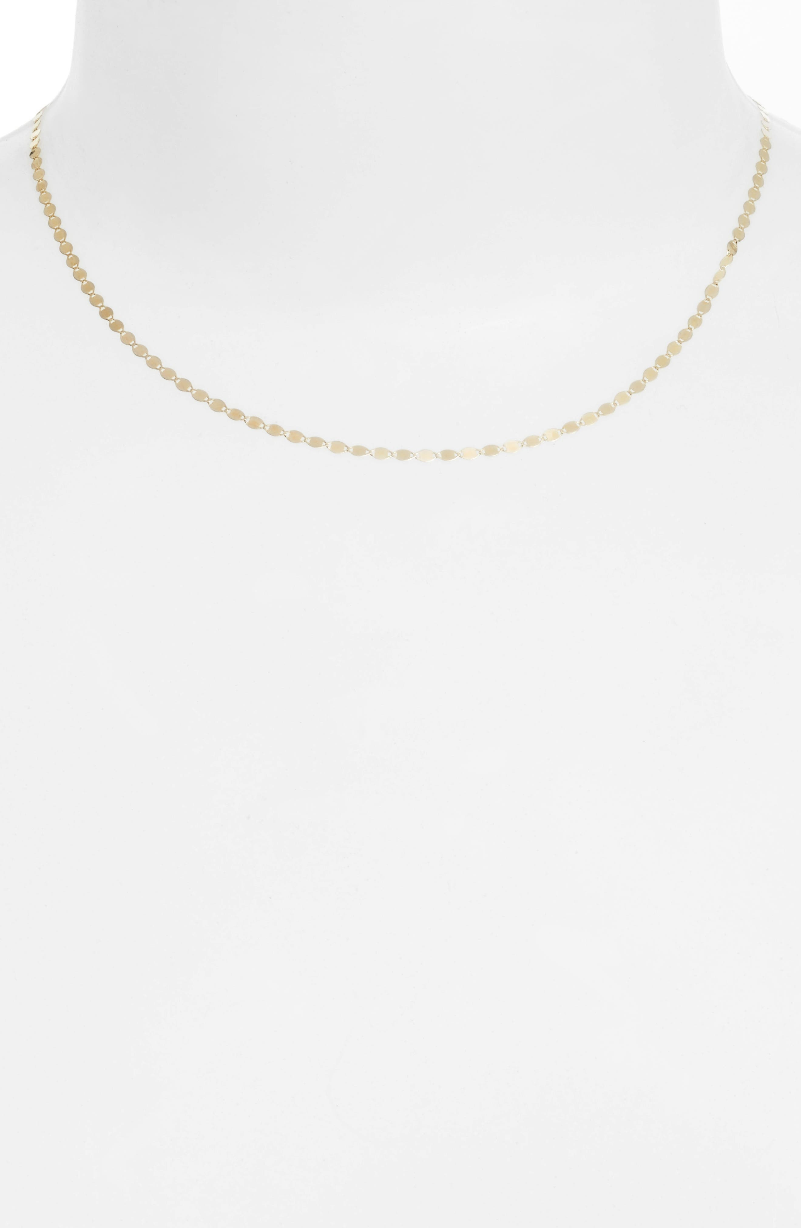 Petite Nude Chain Choker,                         Main,                         color, Yellow Gold