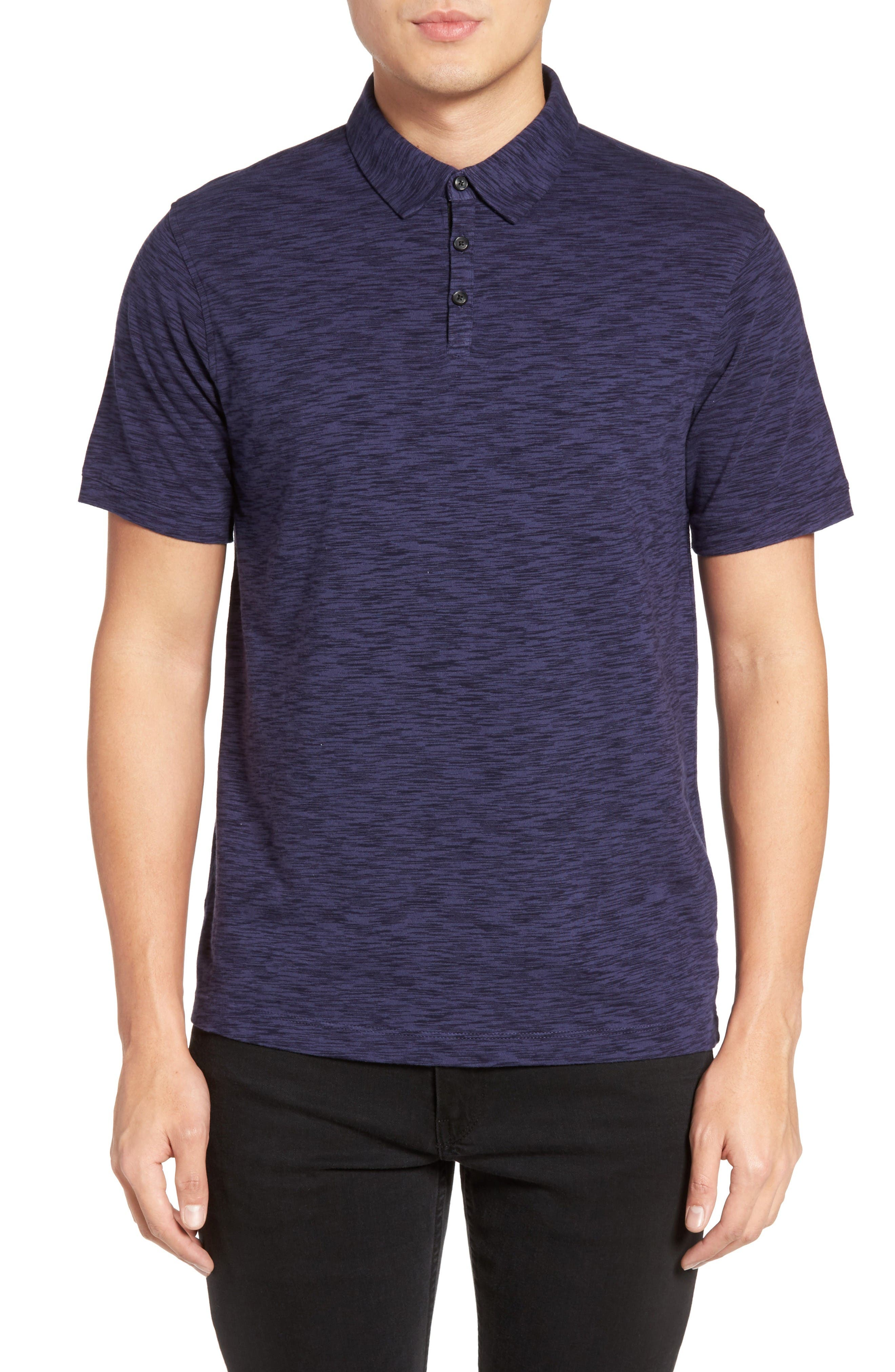 Main Image - Calibrate Trim Fit Space Dye Polo