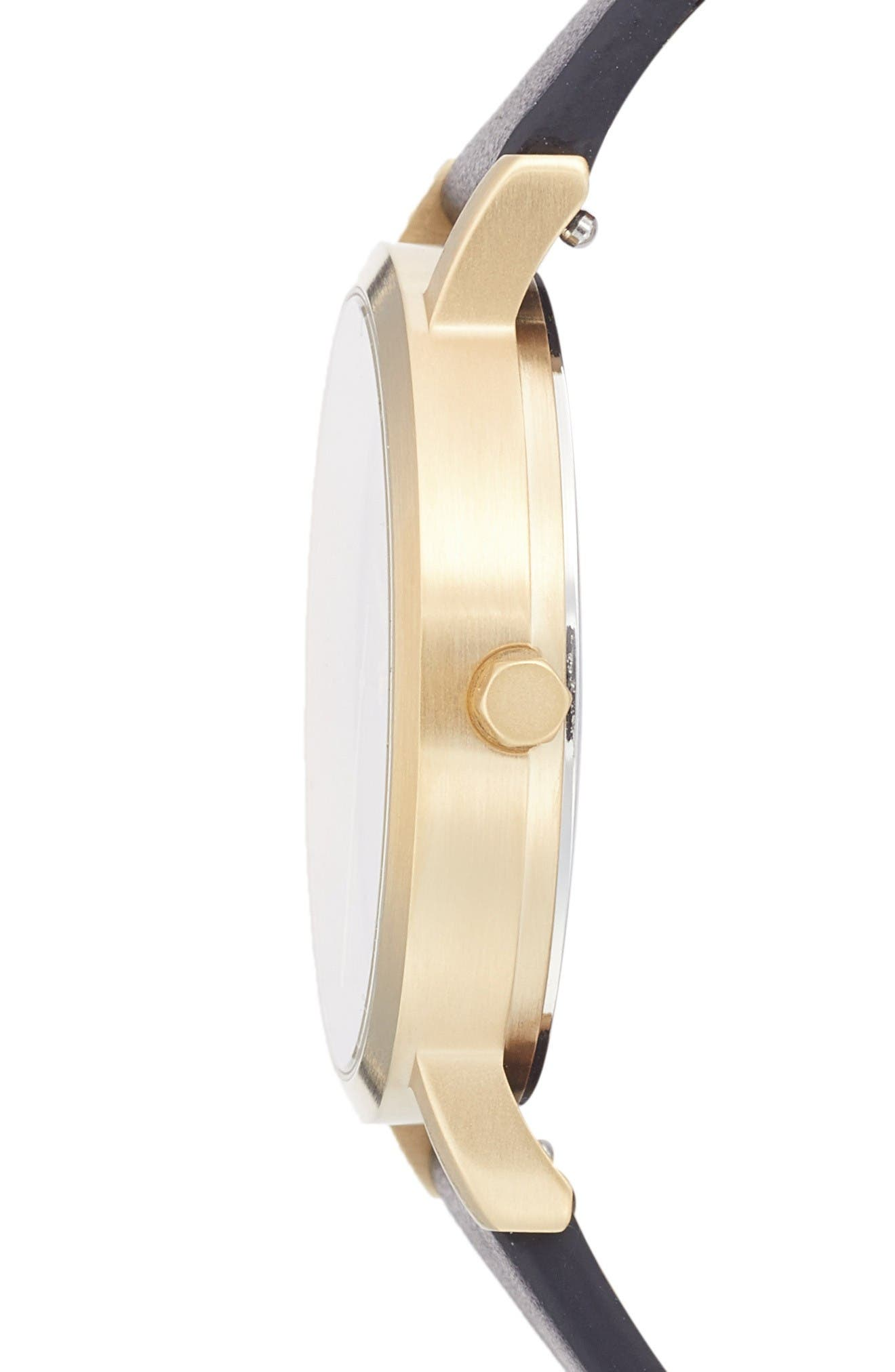 Alternate Image 3  - CLUSE 'Minuit' Leather Strap Watch, 33mm