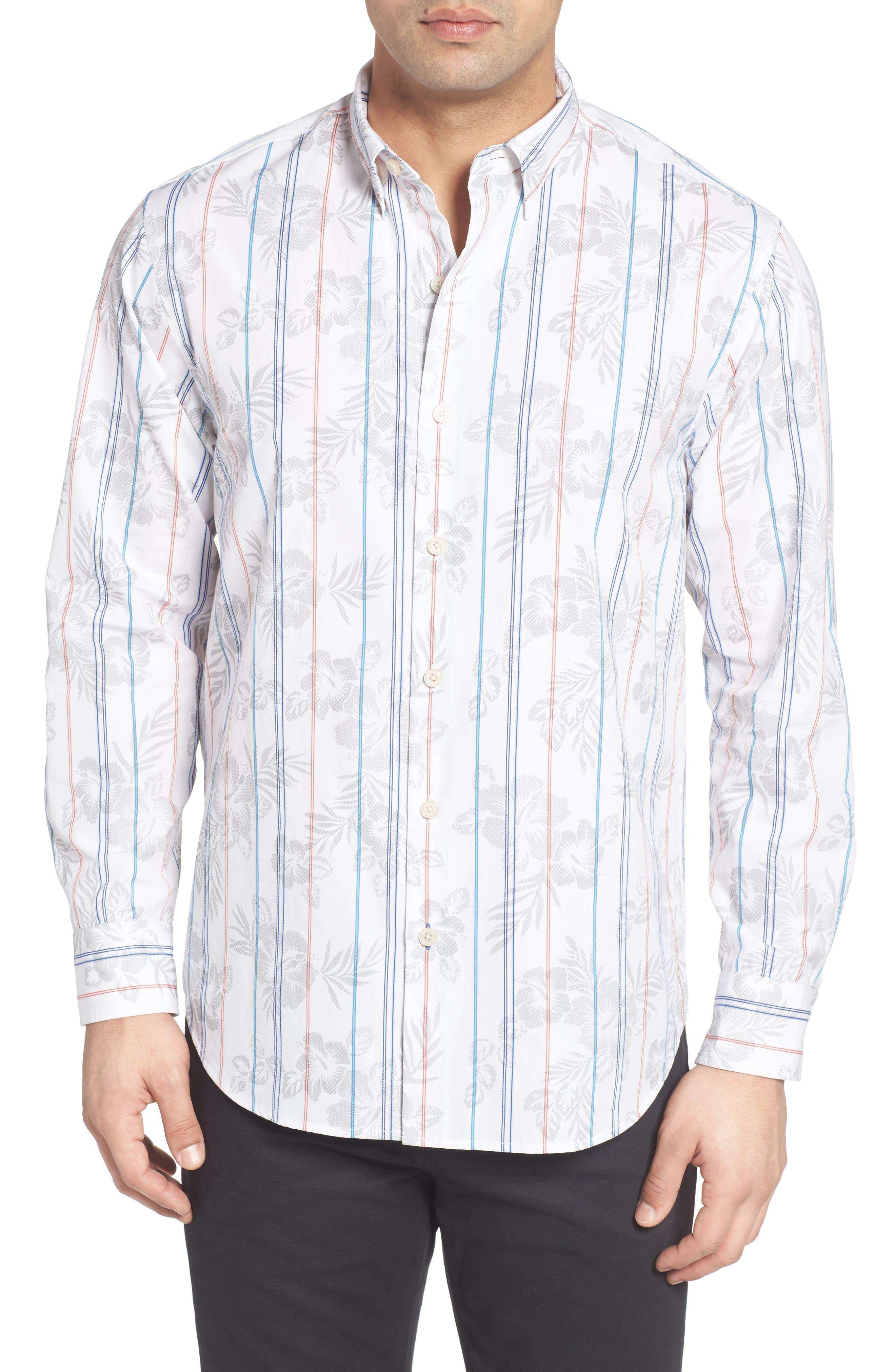 Main Image - Tommy Bahama Atlas Plaid Sport Shirt