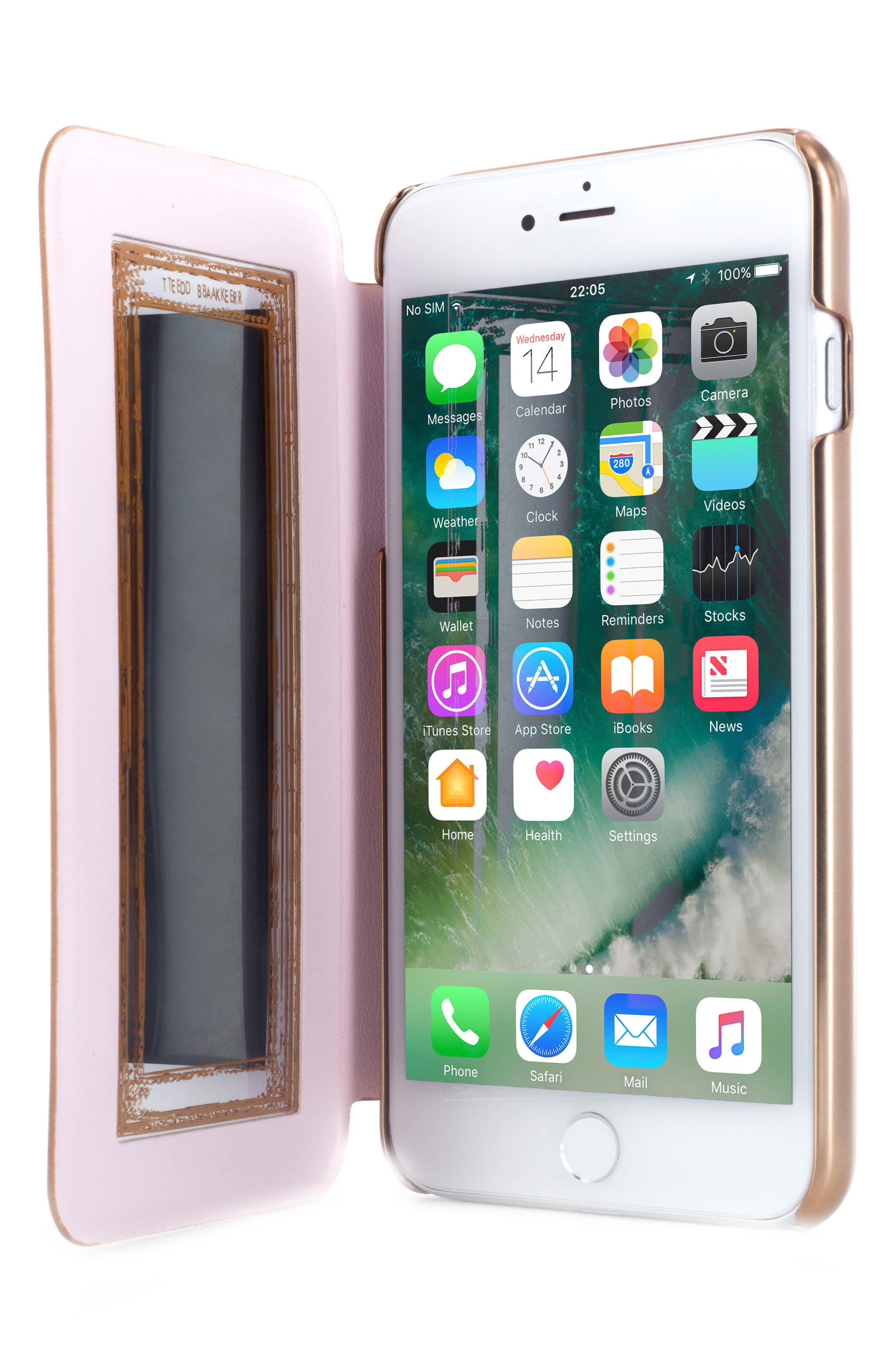 Ted Baker London Kadia iPhone 6/6s/7/8 Plus Mirror Folio Case