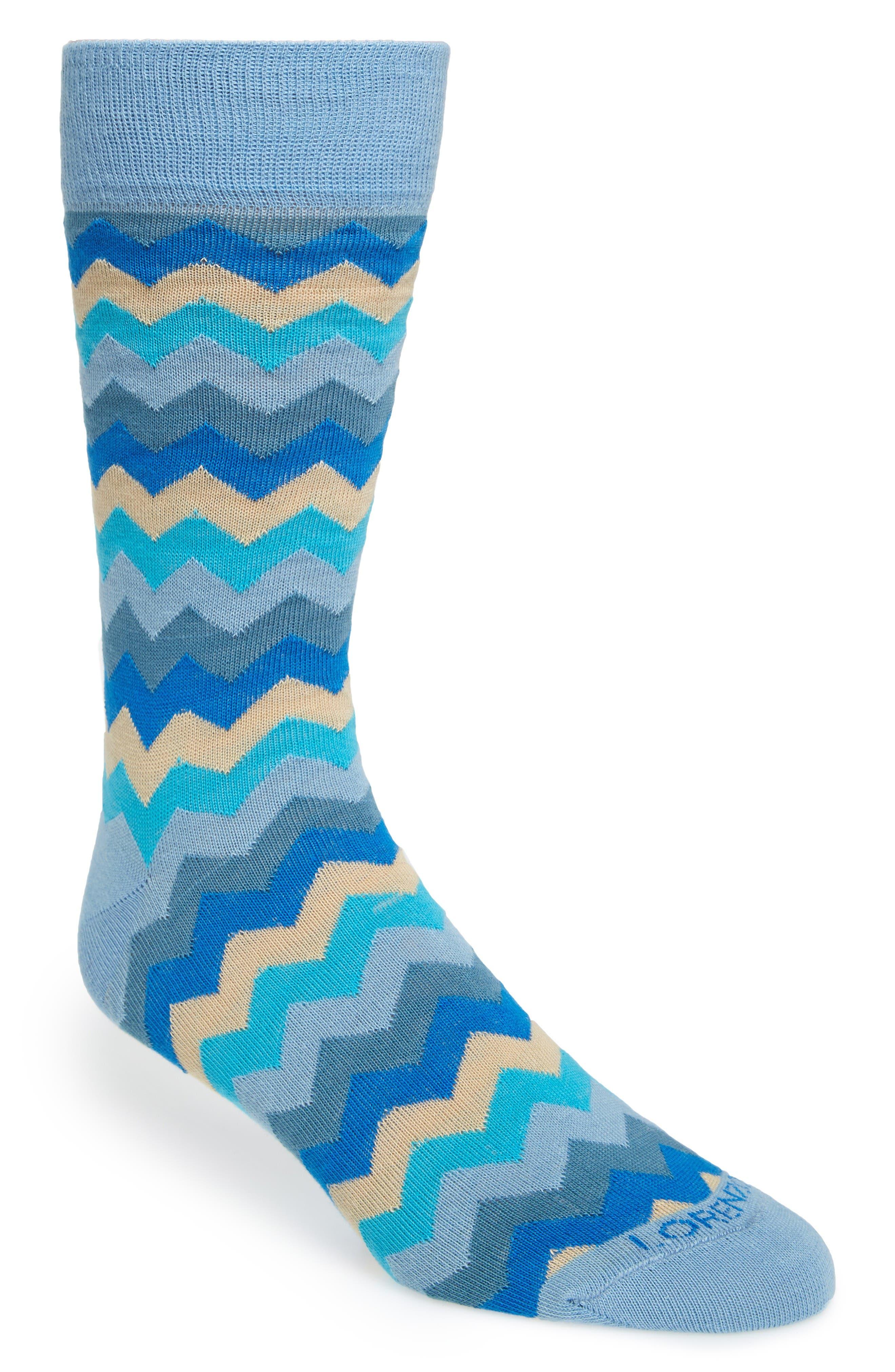 LORENZO UOMO Zigzag Socks