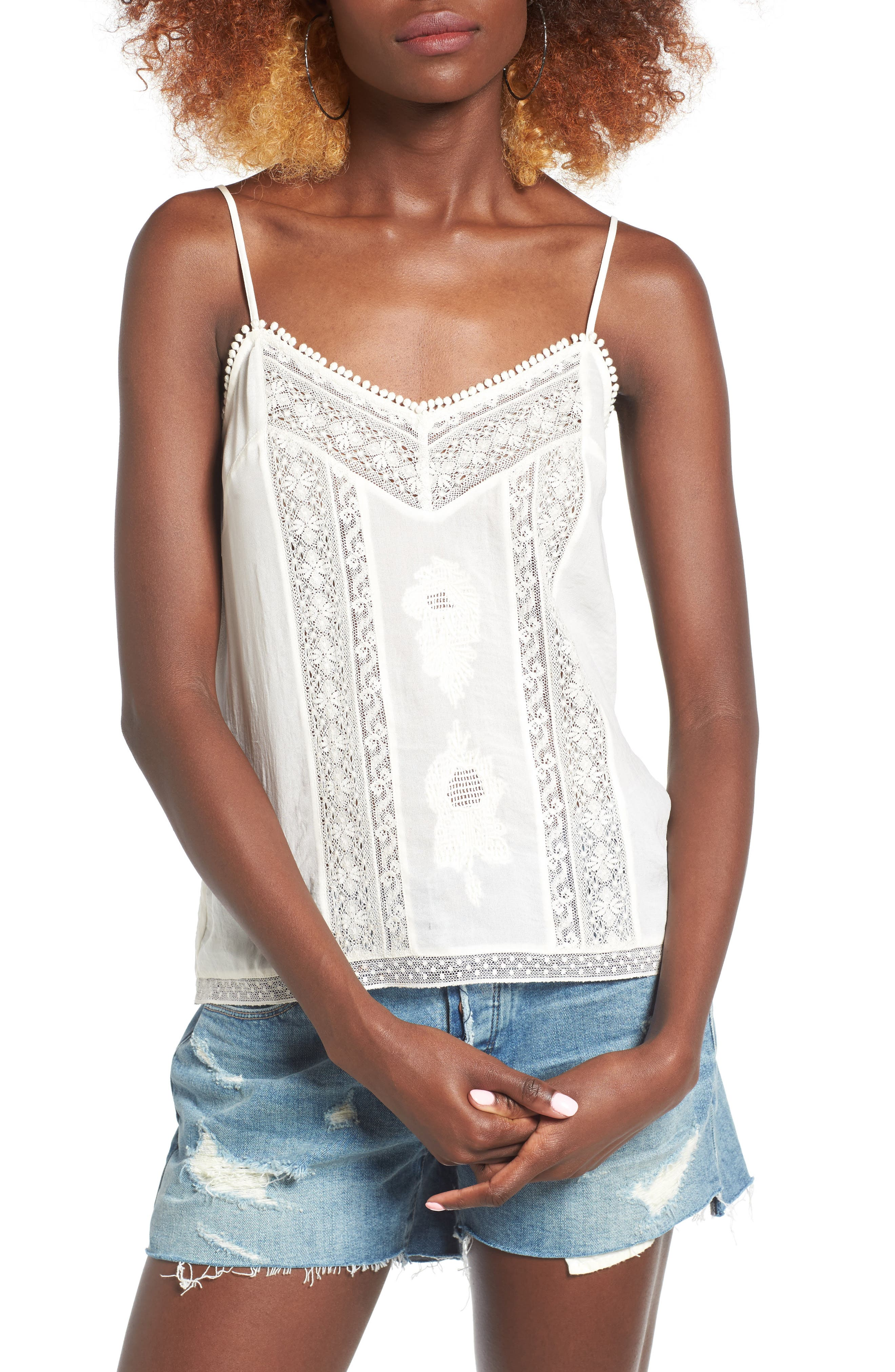 Alternate Image 1 Selected - Hinge Lace Camisole