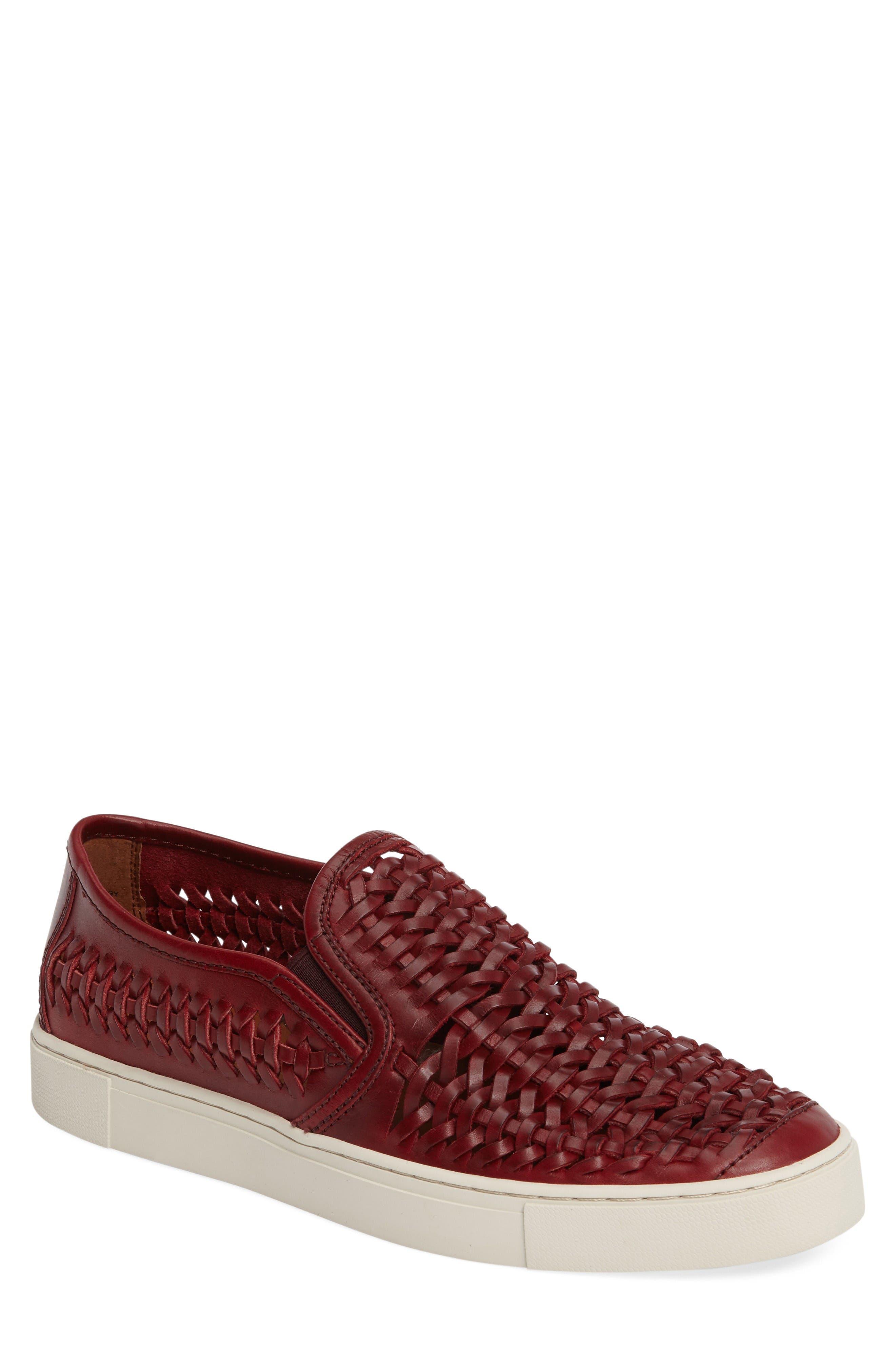 Gabe Slip-On,                             Main thumbnail 1, color,                             Burgundy Leather