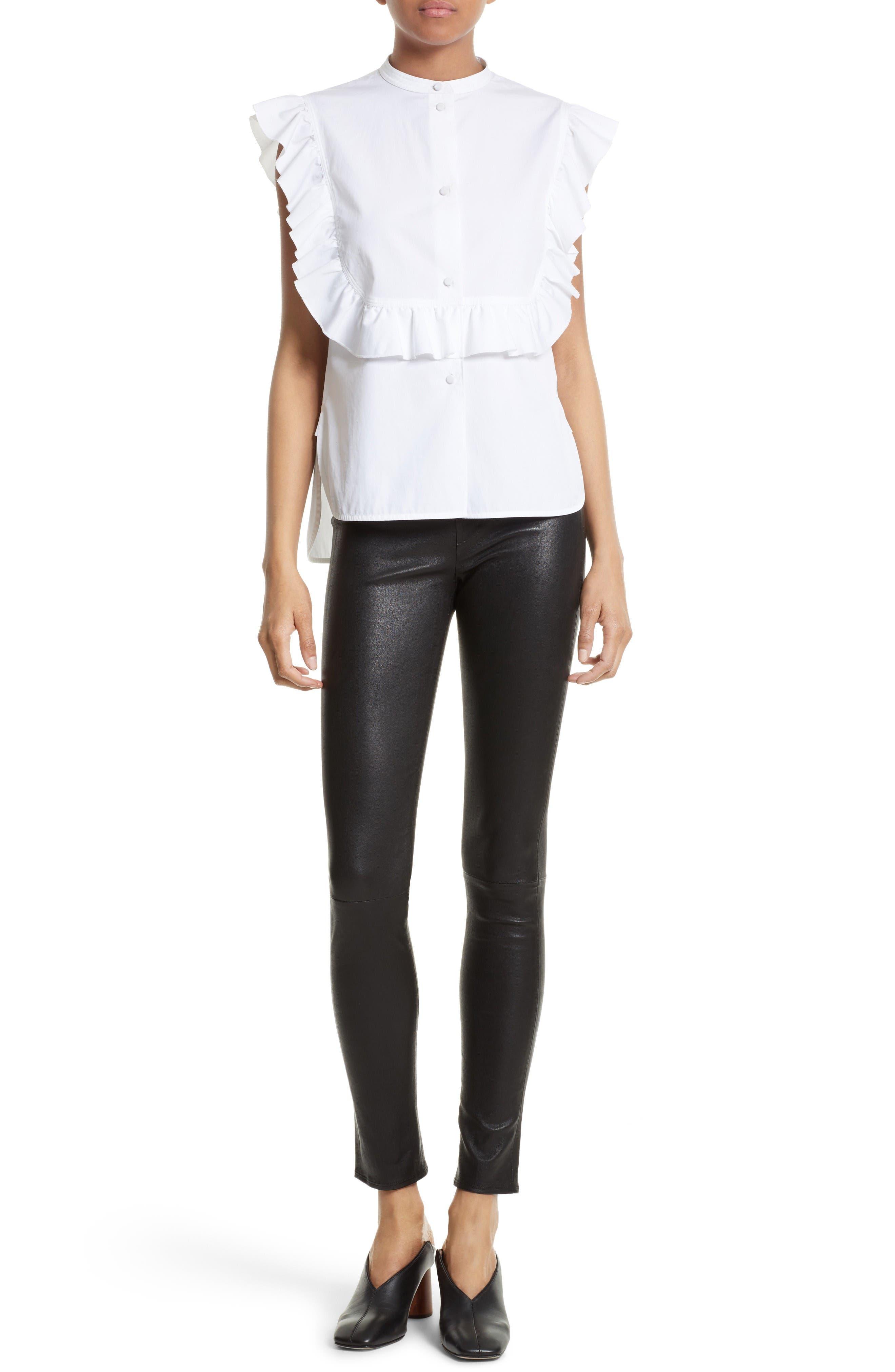 Alternate Image 2  - Helmut Lang Ruffle Bib Cotton Shirt