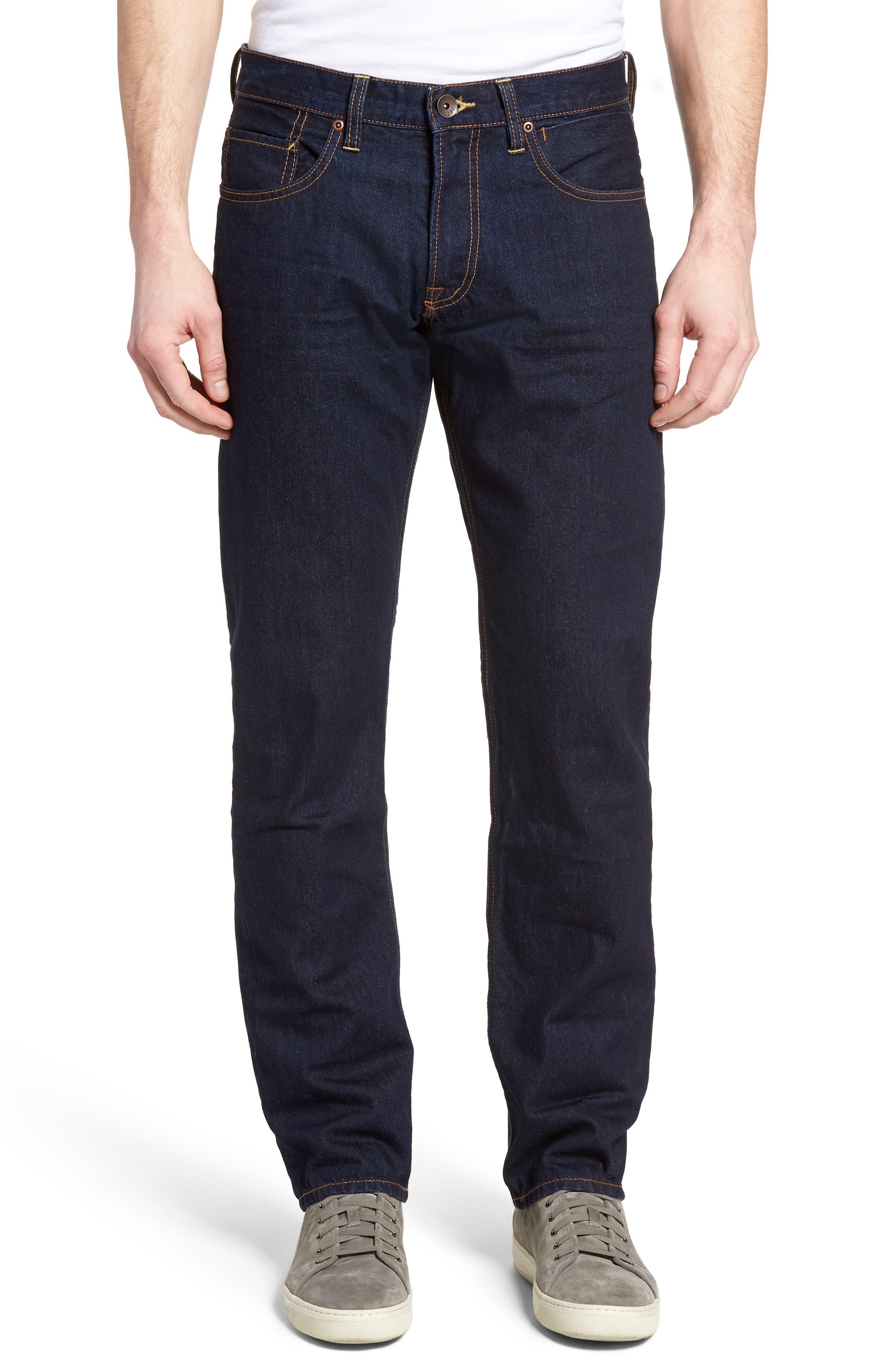 Quiksilver Sequel Straight Leg Jeans (Rinse)