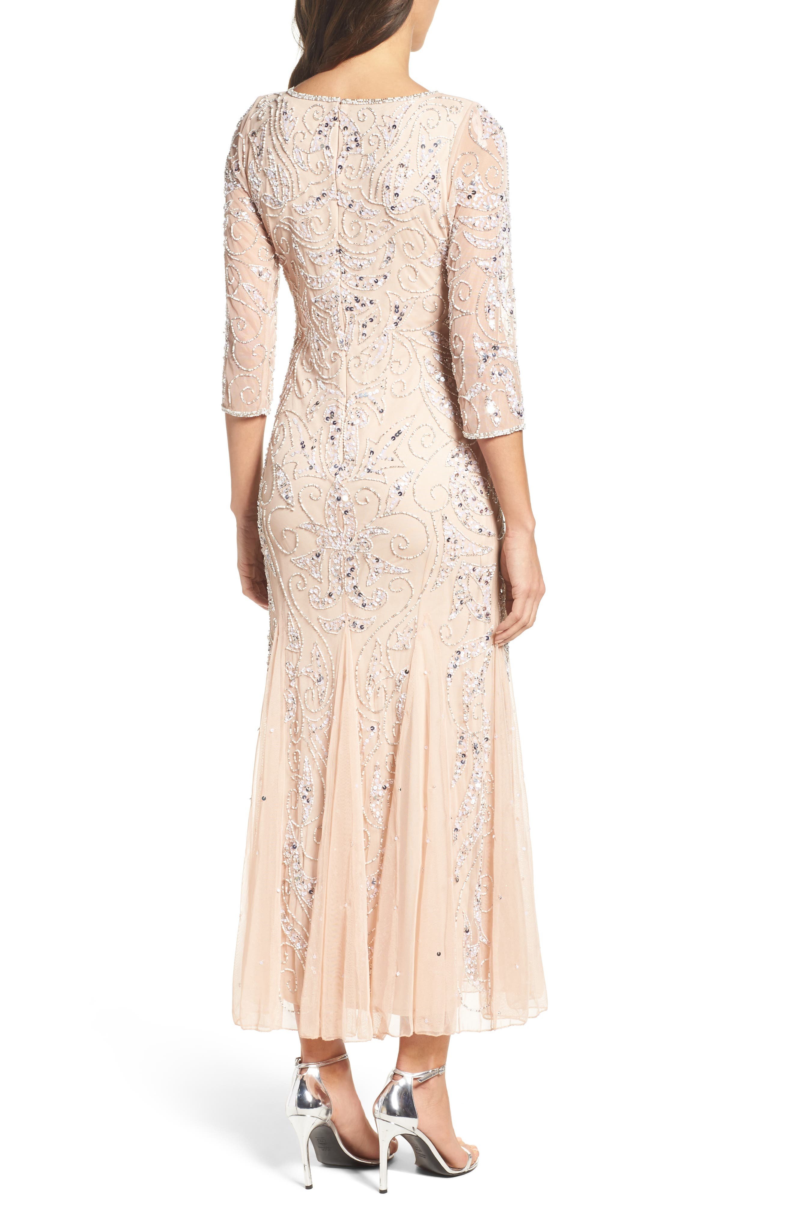 Alternate Image 2  - Pisarro Nights Embellished Mesh Gown (Regular & Petite)