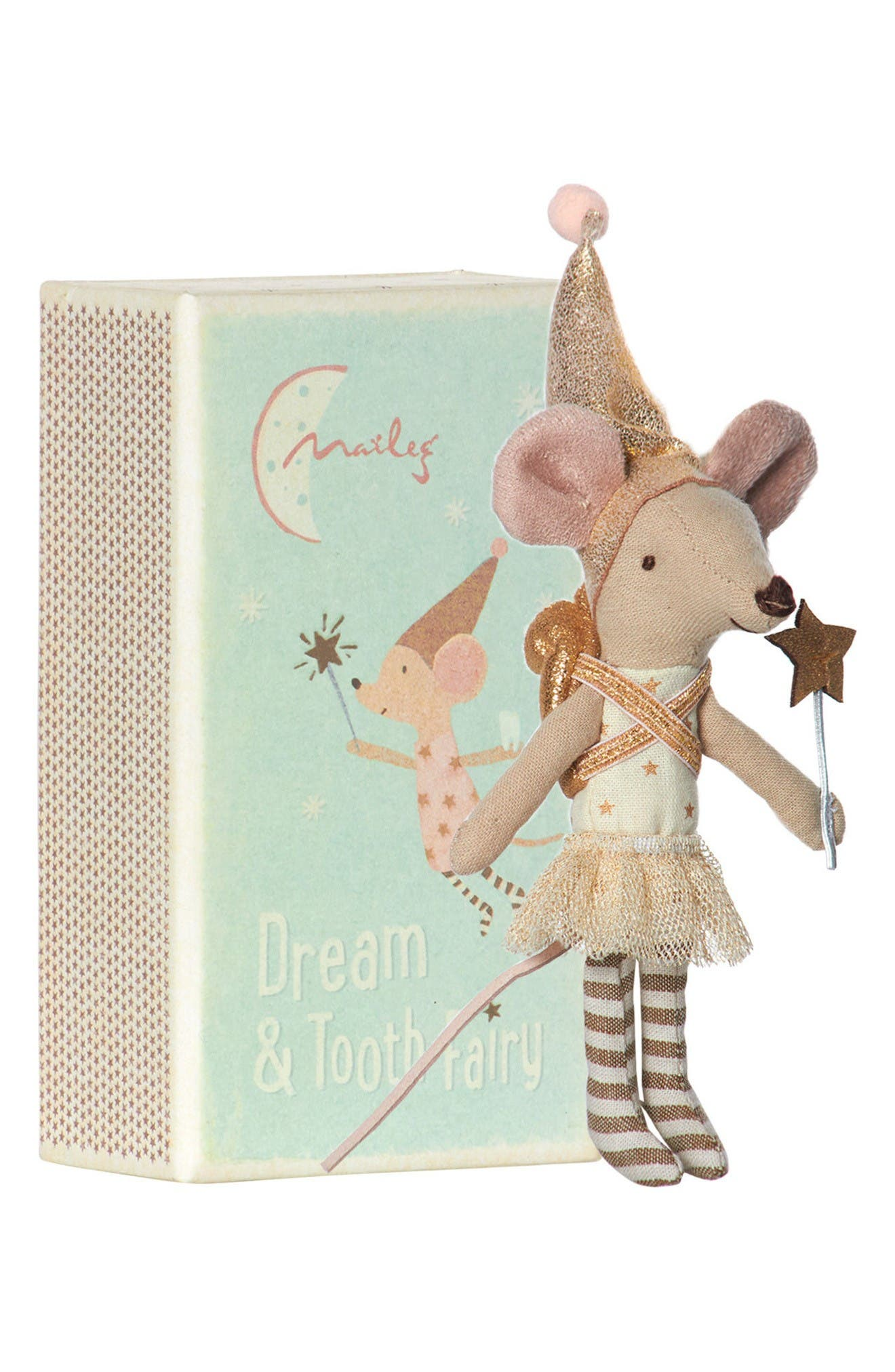 Maileg Girl Tooth Fairy Mouse Stuffed Animal in Box