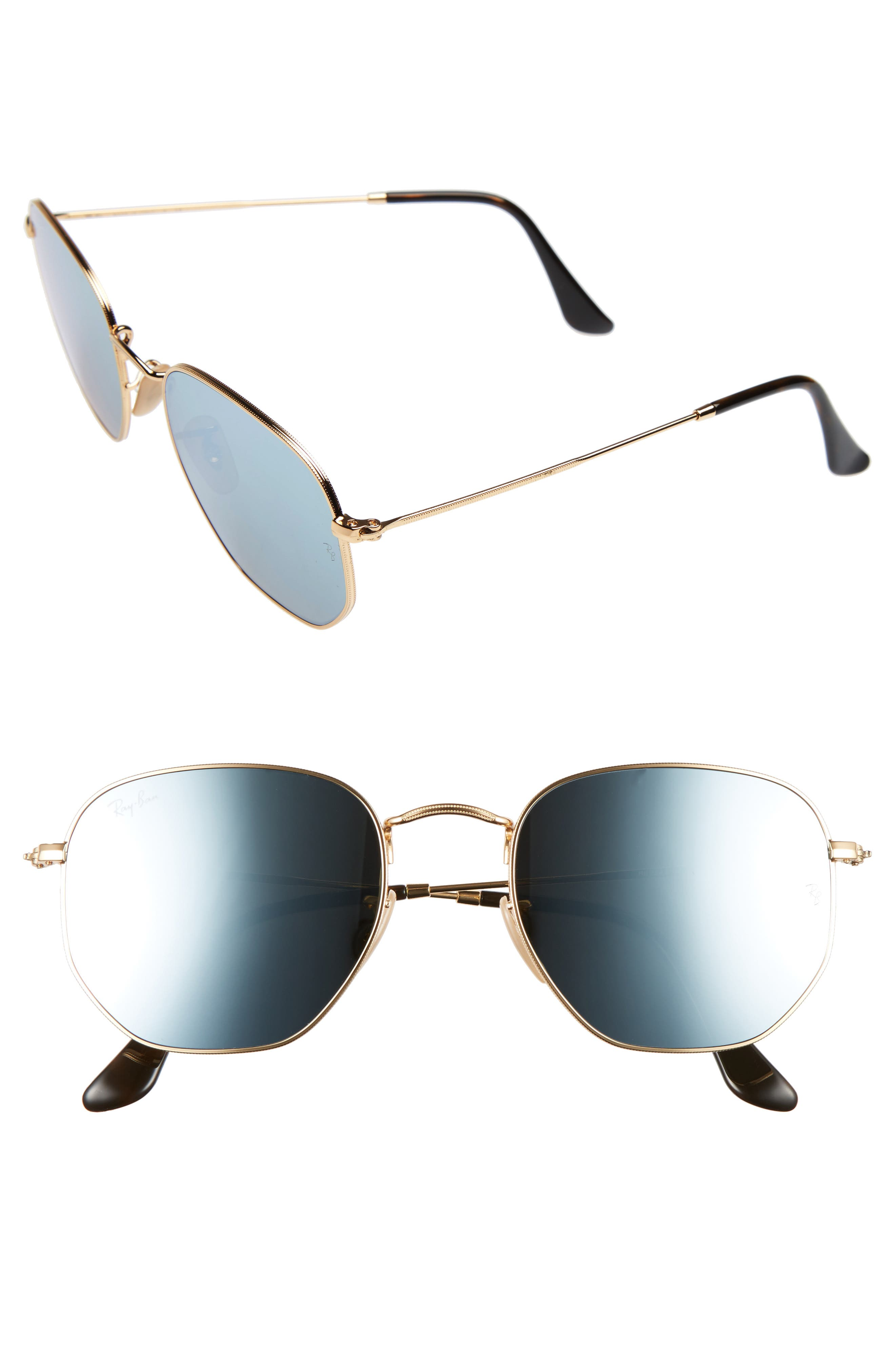 Alternate Image 1 Selected - Ray-Ban 54mm Hexagonal Flat Lens Sunglasses