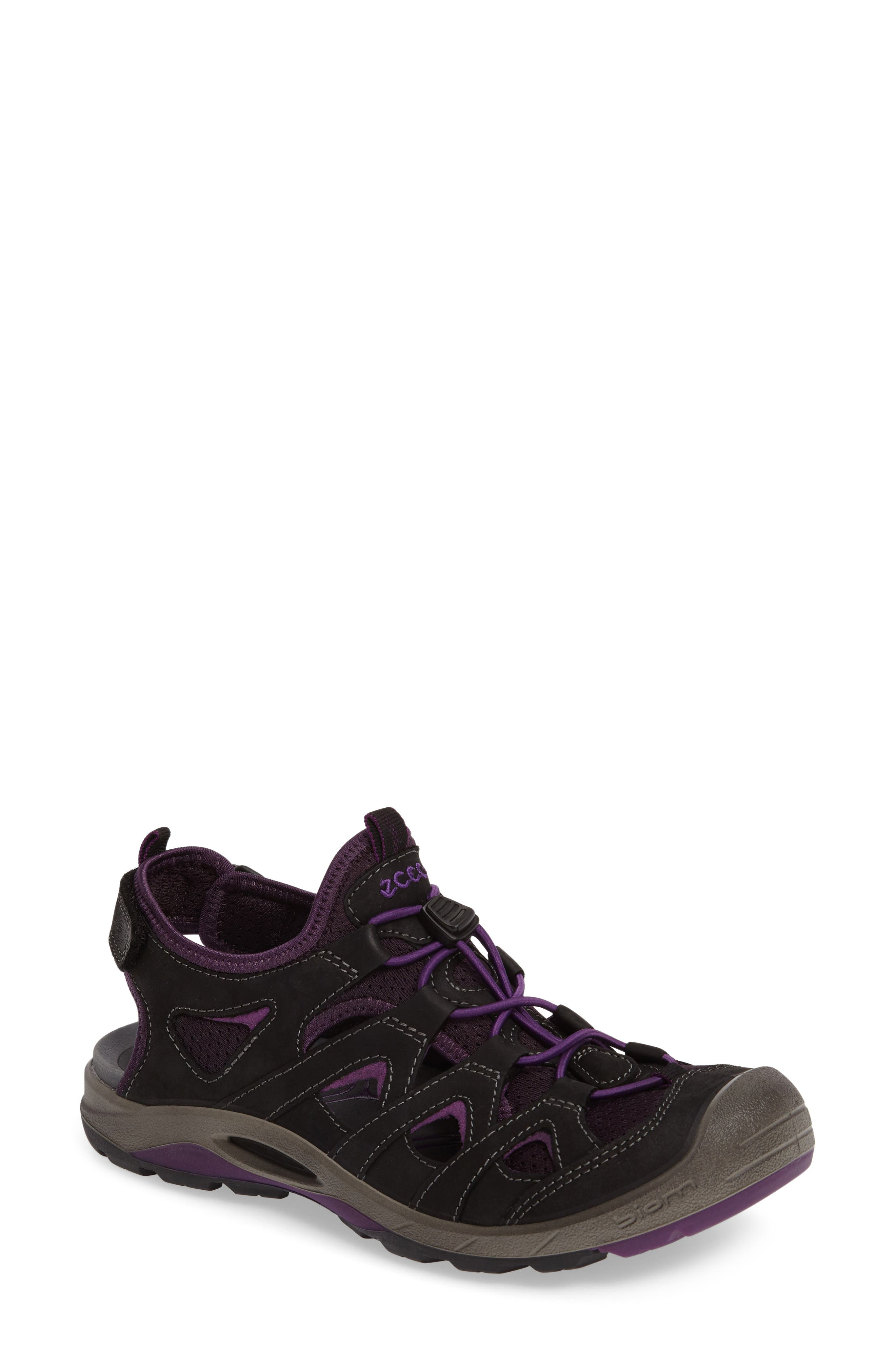 'Biom Delta Offroad' Sneaker,                             Main thumbnail 1, color,                             Black/ Imperial Purple Leather