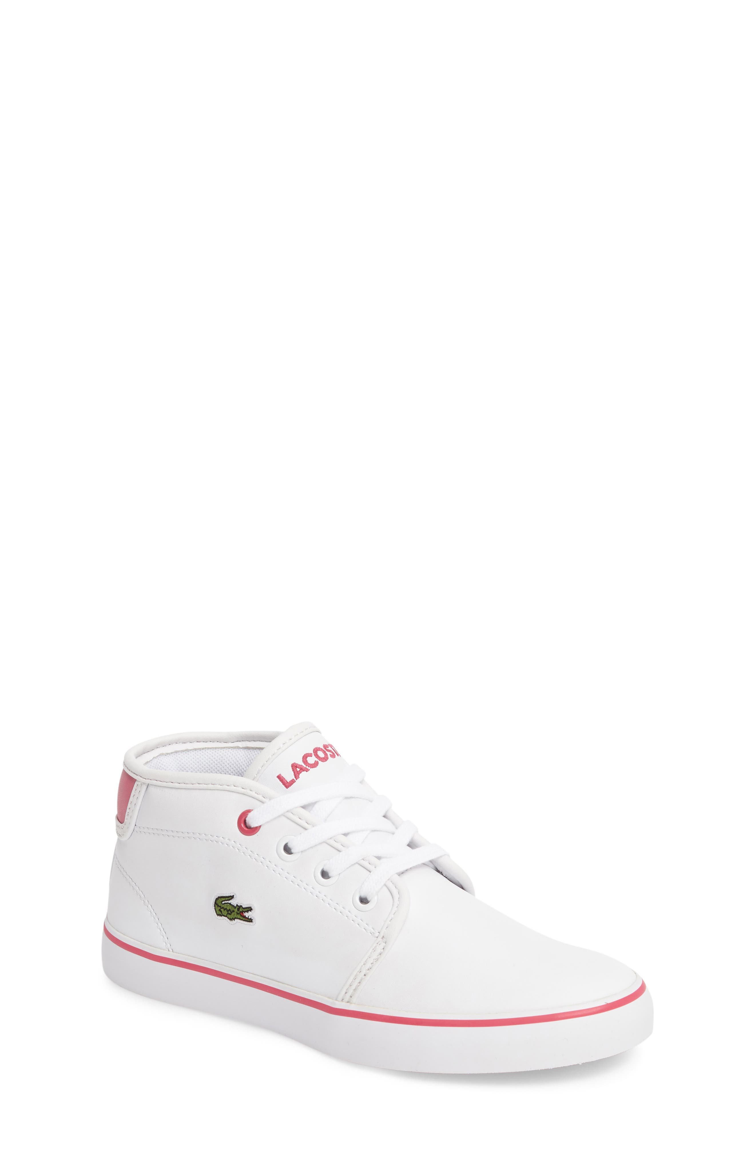 Lacoste Ampthill Mid-Top Sneaker (Baby, Walker, Toddler & Little Kid)