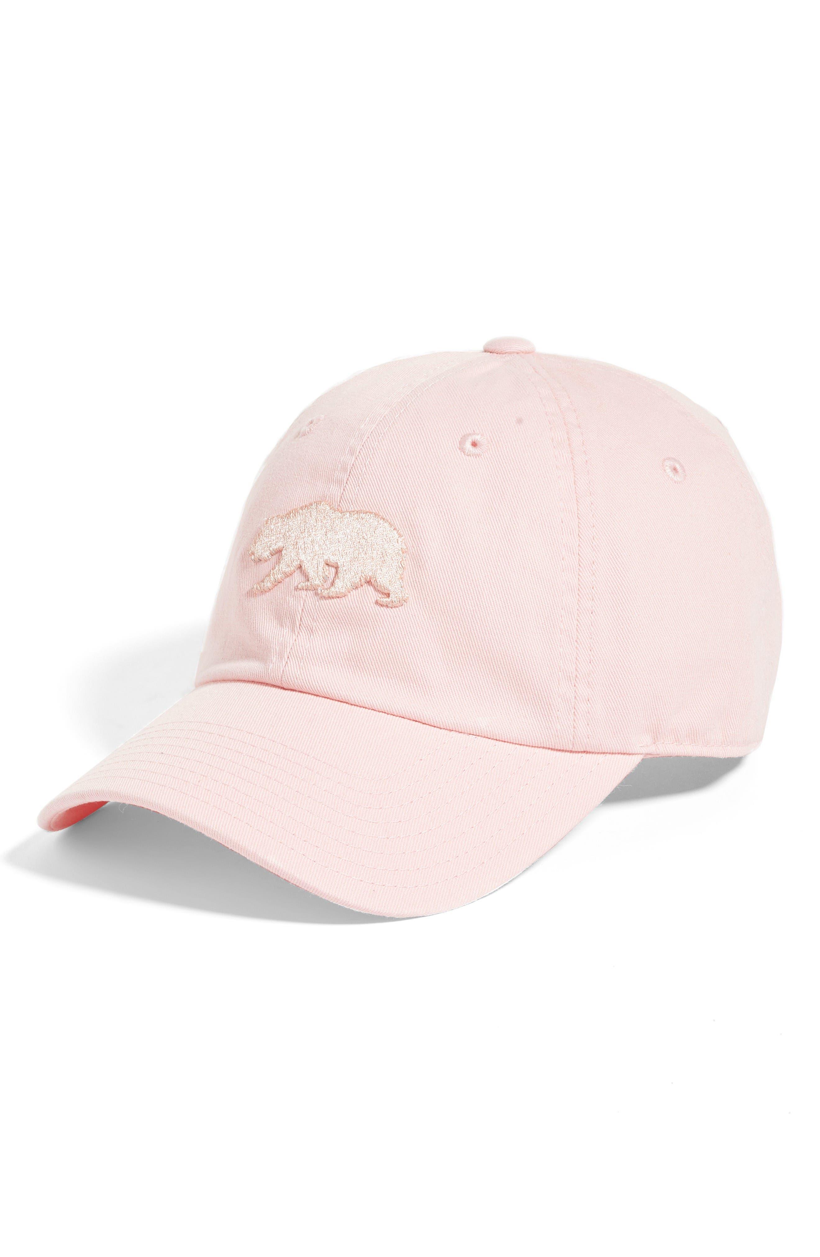 Cali Baseball Cap,                         Main,                         color, Club Pink