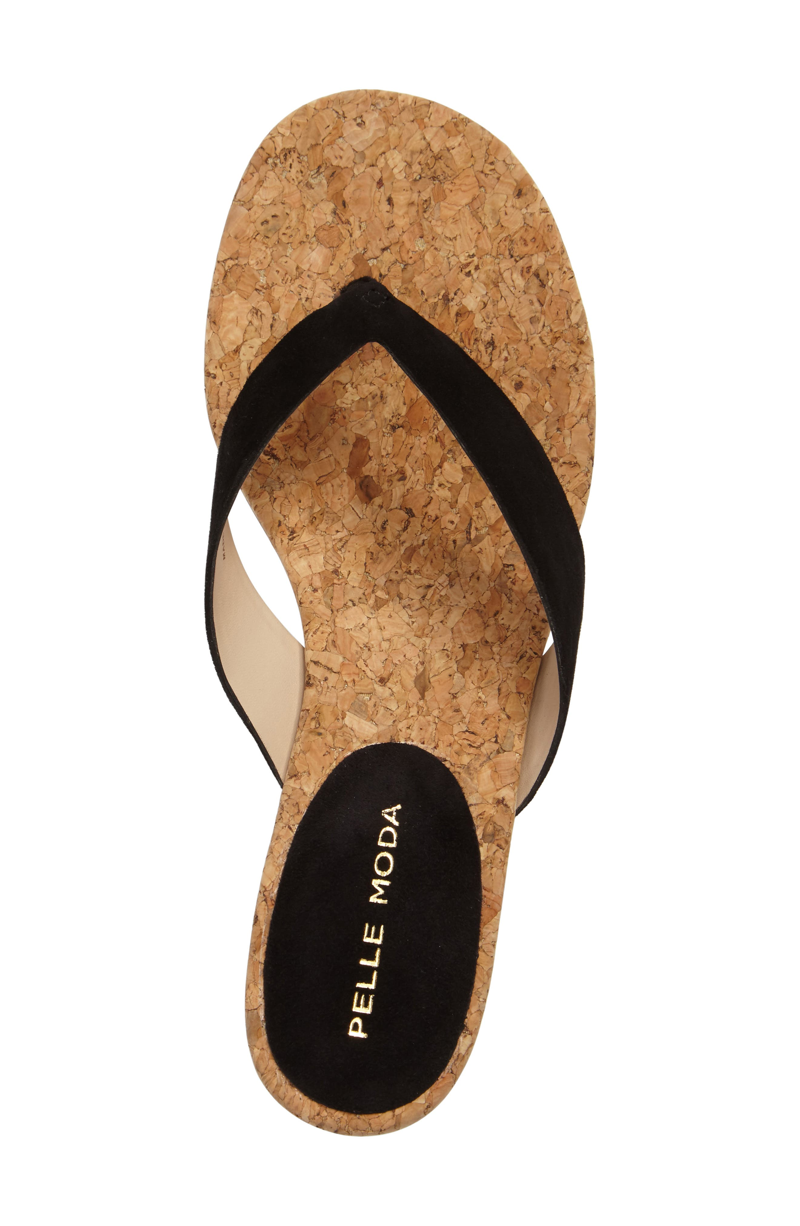 Meryl Sandal,                             Alternate thumbnail 3, color,                             Black Leather