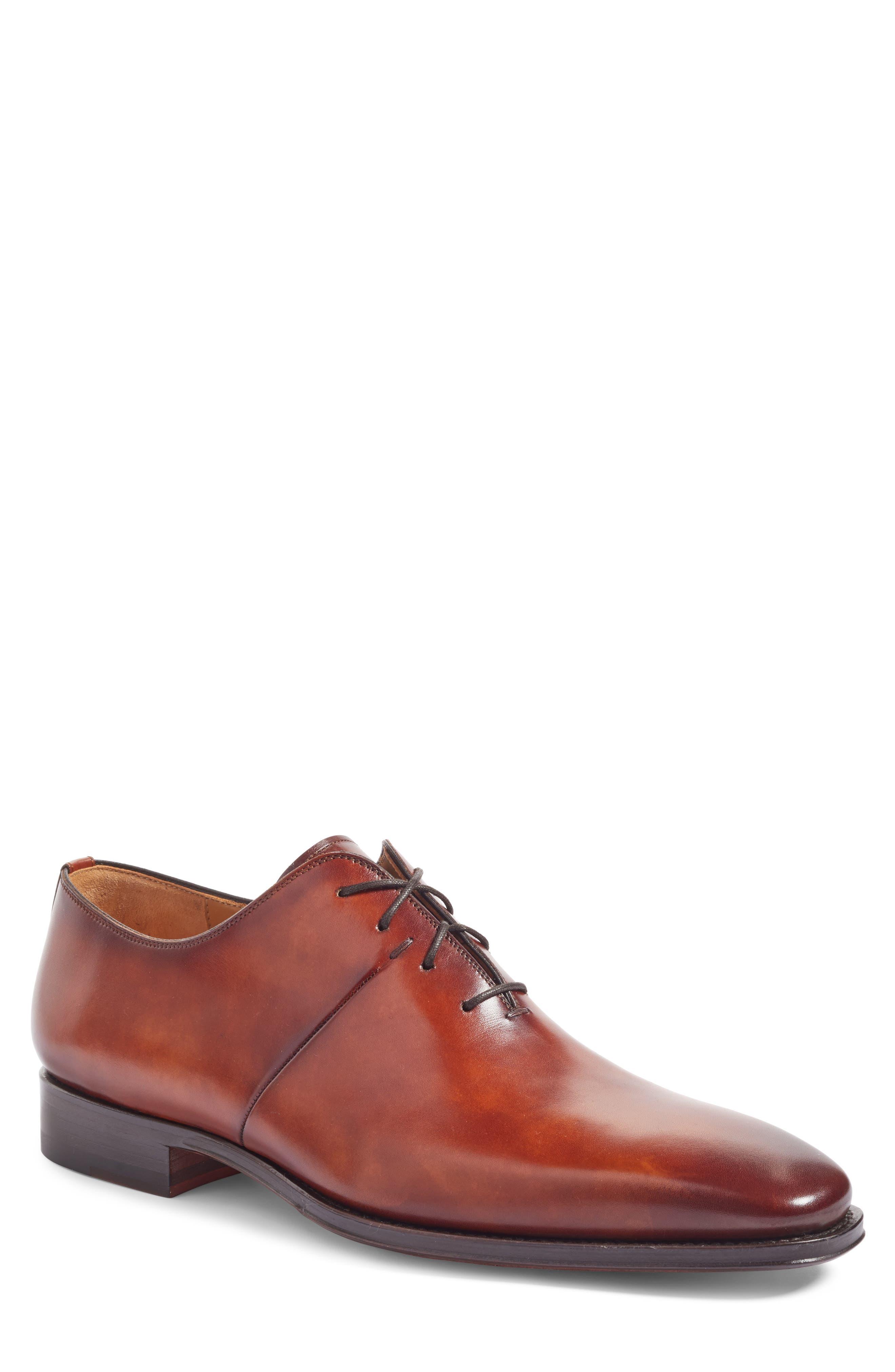 Cornado Plain Toe Oxford,                             Main thumbnail 1, color,                             Cognac Leather