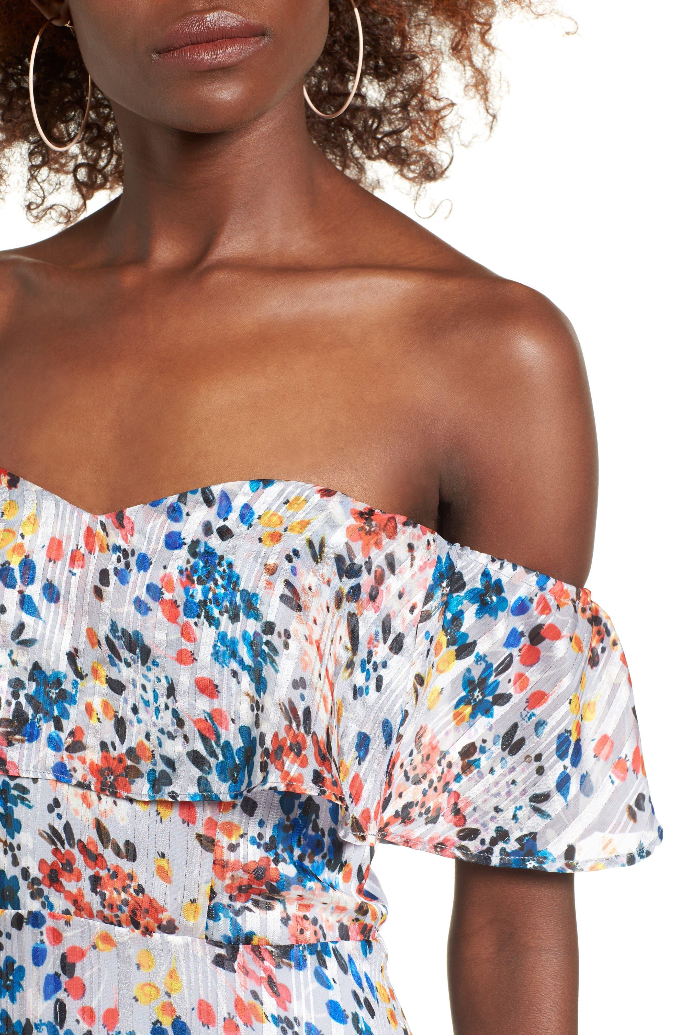 Alternate Image 5  - devlin Beth Off the Shoulder Maxi Dress