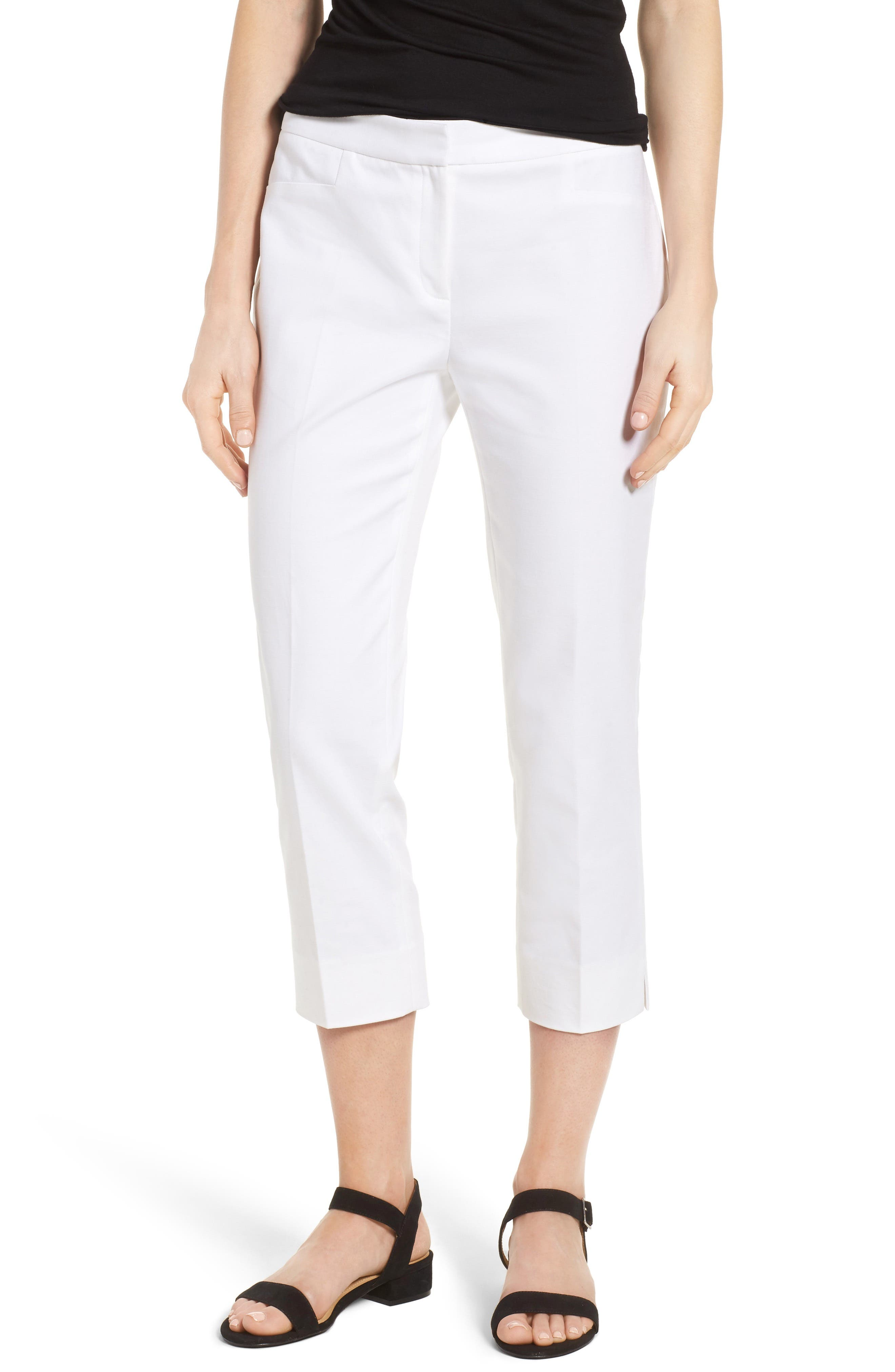 Crop Pants,                         Main,                         color, New Ivory